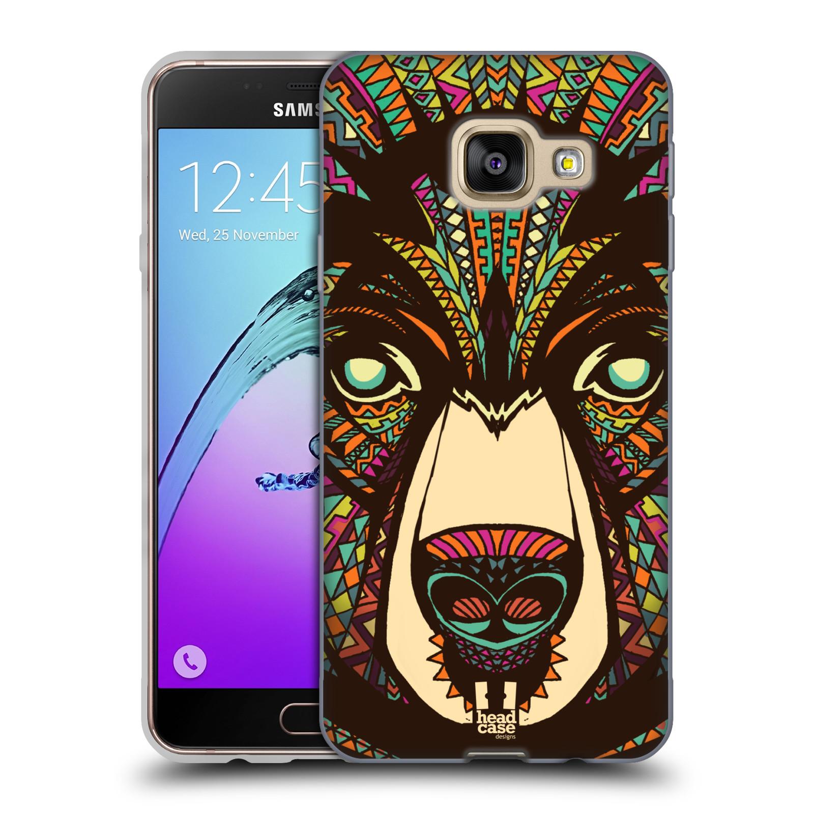 Silikonové pouzdro na mobil Samsung Galaxy A3 (2016) HEAD CASE AZTEC MEDVĚD