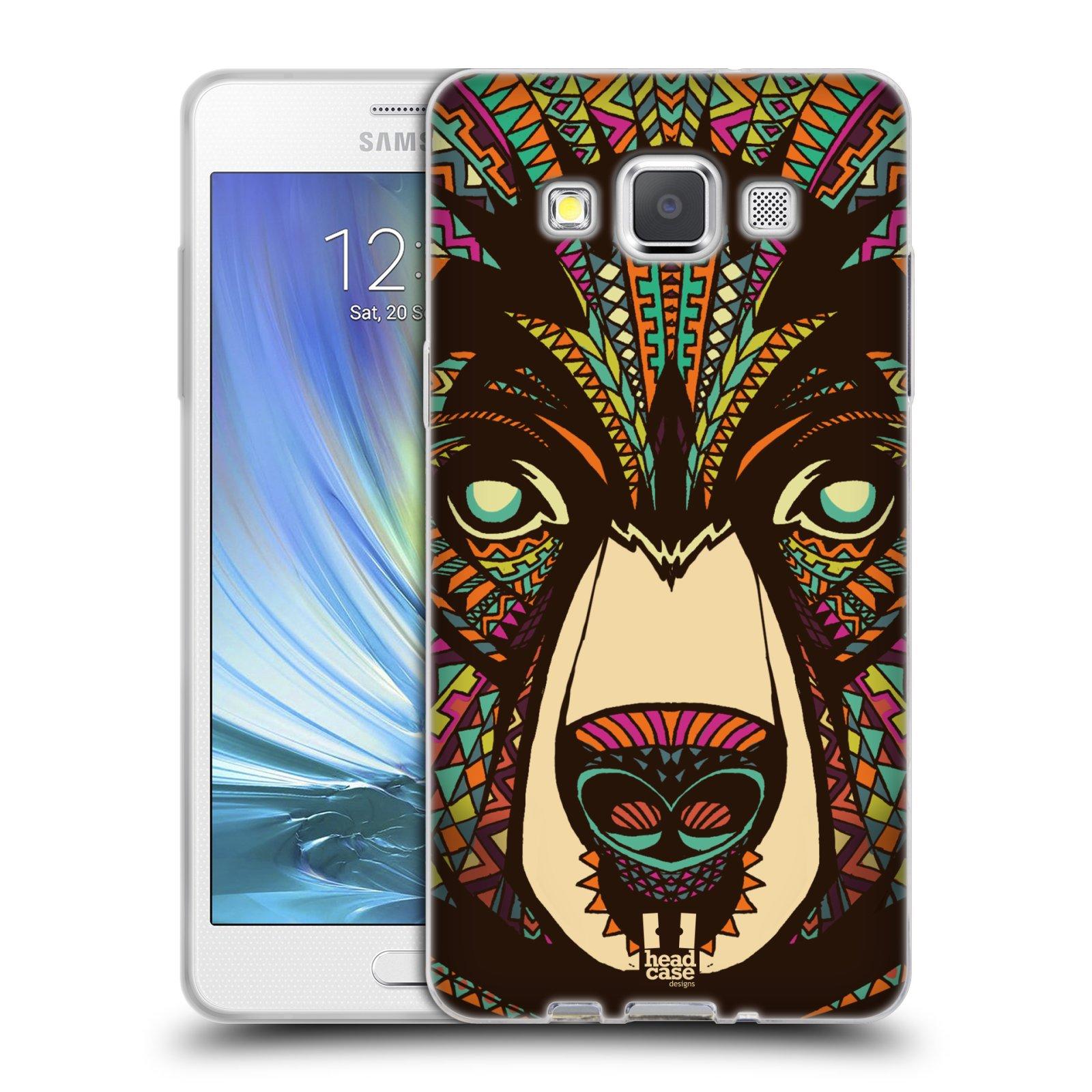 Silikonové pouzdro na mobil Samsung Galaxy A5 HEAD CASE AZTEC MEDVĚD