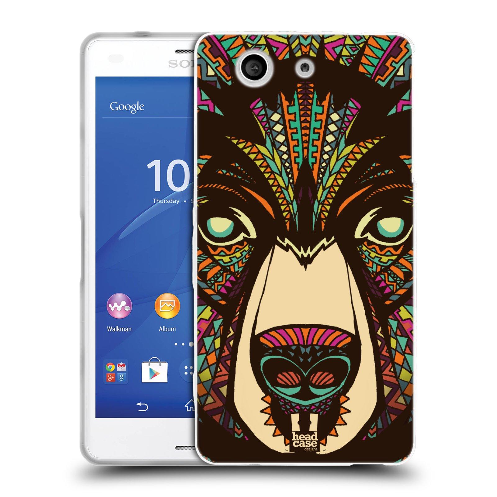 Silikonové pouzdro na mobil Sony Xperia Z3 Compact D5803 HEAD CASE AZTEC MEDVĚD