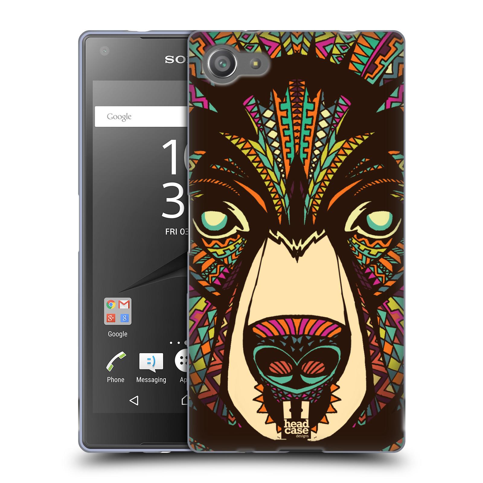 Silikonové pouzdro na mobil Sony Xperia Z5 Compact HEAD CASE AZTEC MEDVĚD