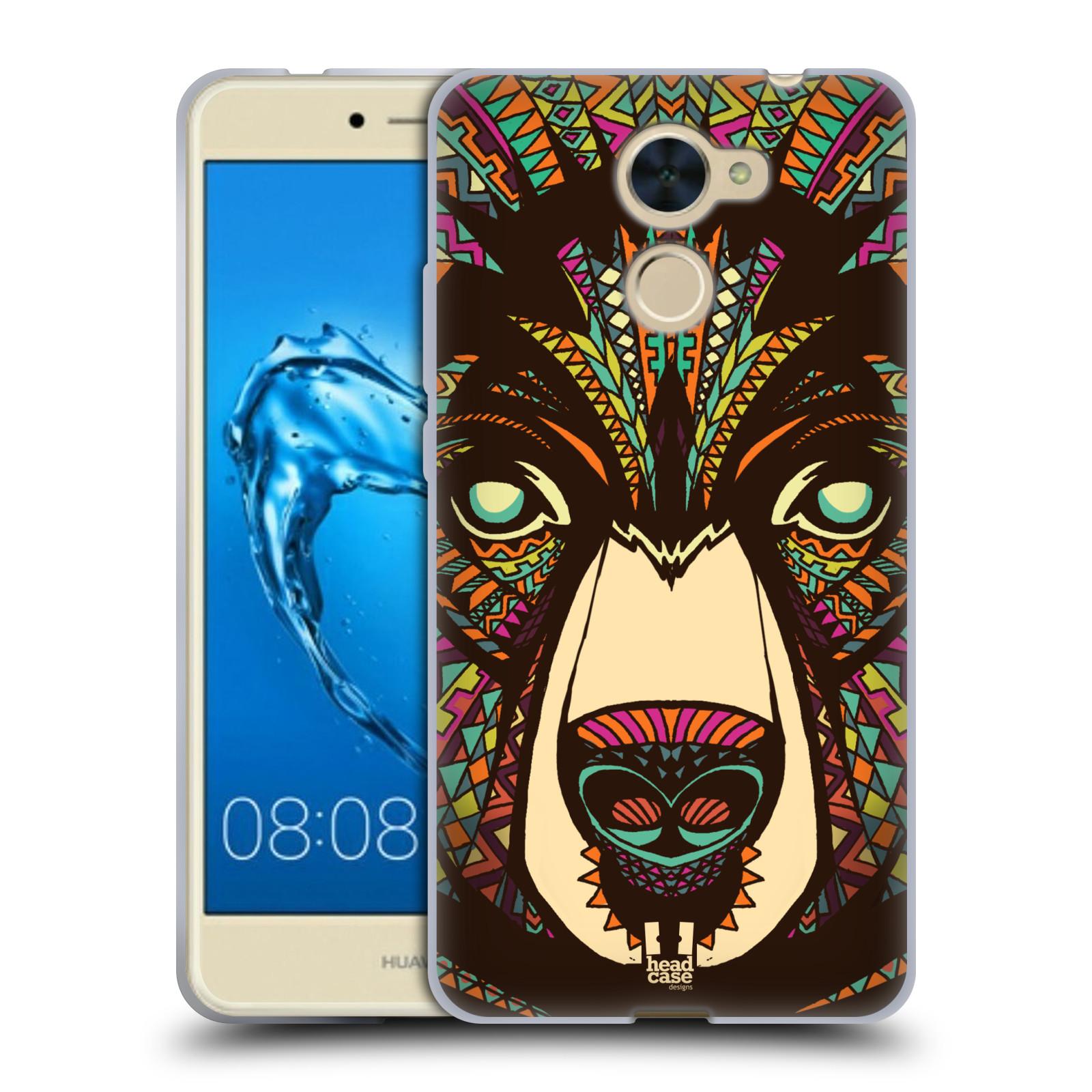 Silikonové pouzdro na mobil Huawei Y7 - Head Case - AZTEC MEDVĚD