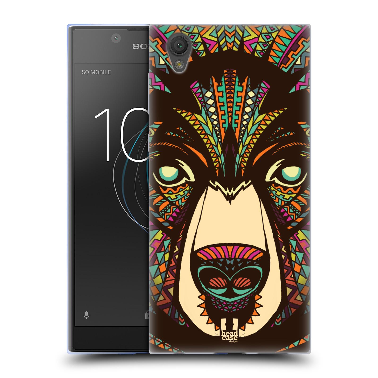 Silikonové pouzdro na mobil Sony Xperia L1 - Head Case - AZTEC MEDVĚD