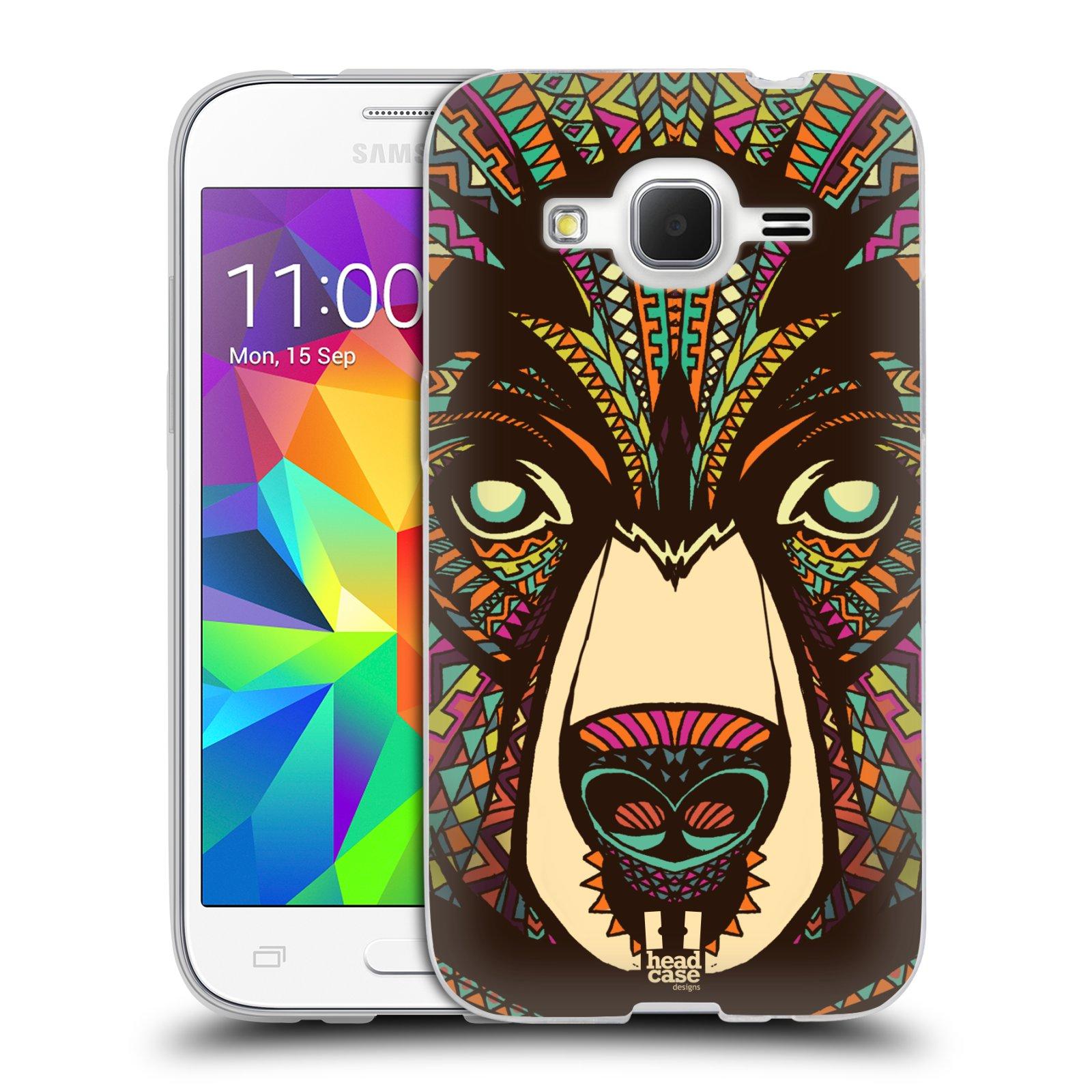 Silikonové pouzdro na mobil Samsung Galaxy Core Prime LTE HEAD CASE AZTEC MEDVĚD