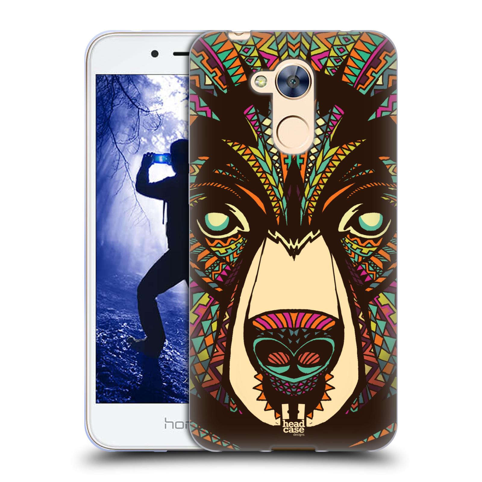 Silikonové pouzdro na mobil Honor 6A - Head Case - AZTEC MEDVĚD
