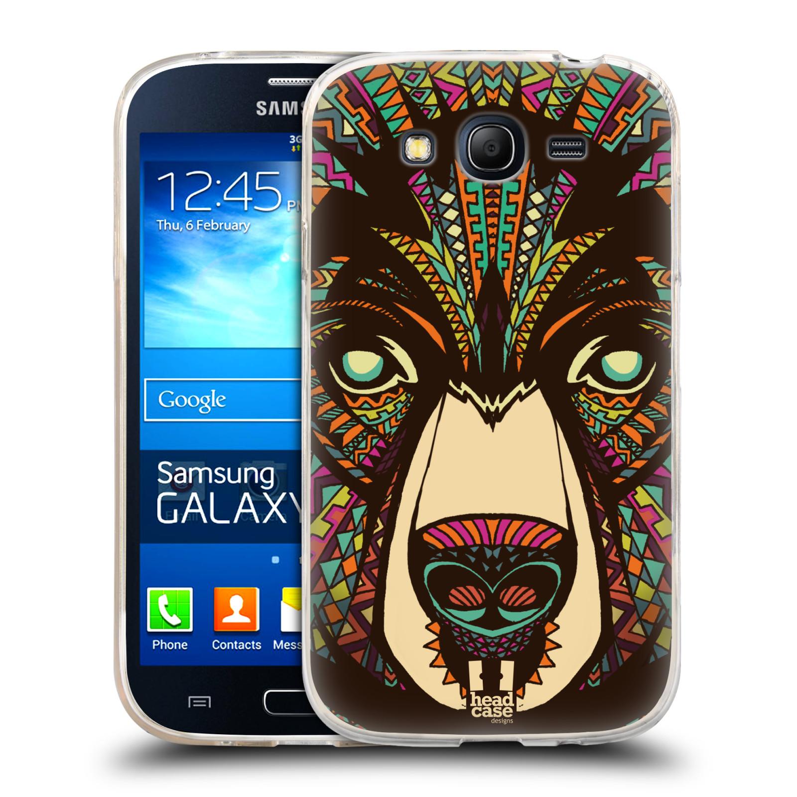 Silikonové pouzdro na mobil Samsung Galaxy Grand Neo HEAD CASE AZTEC MEDVĚD (Silikonový kryt či obal na mobilní telefon Samsung Galaxy Grand Neo GT-I9060)