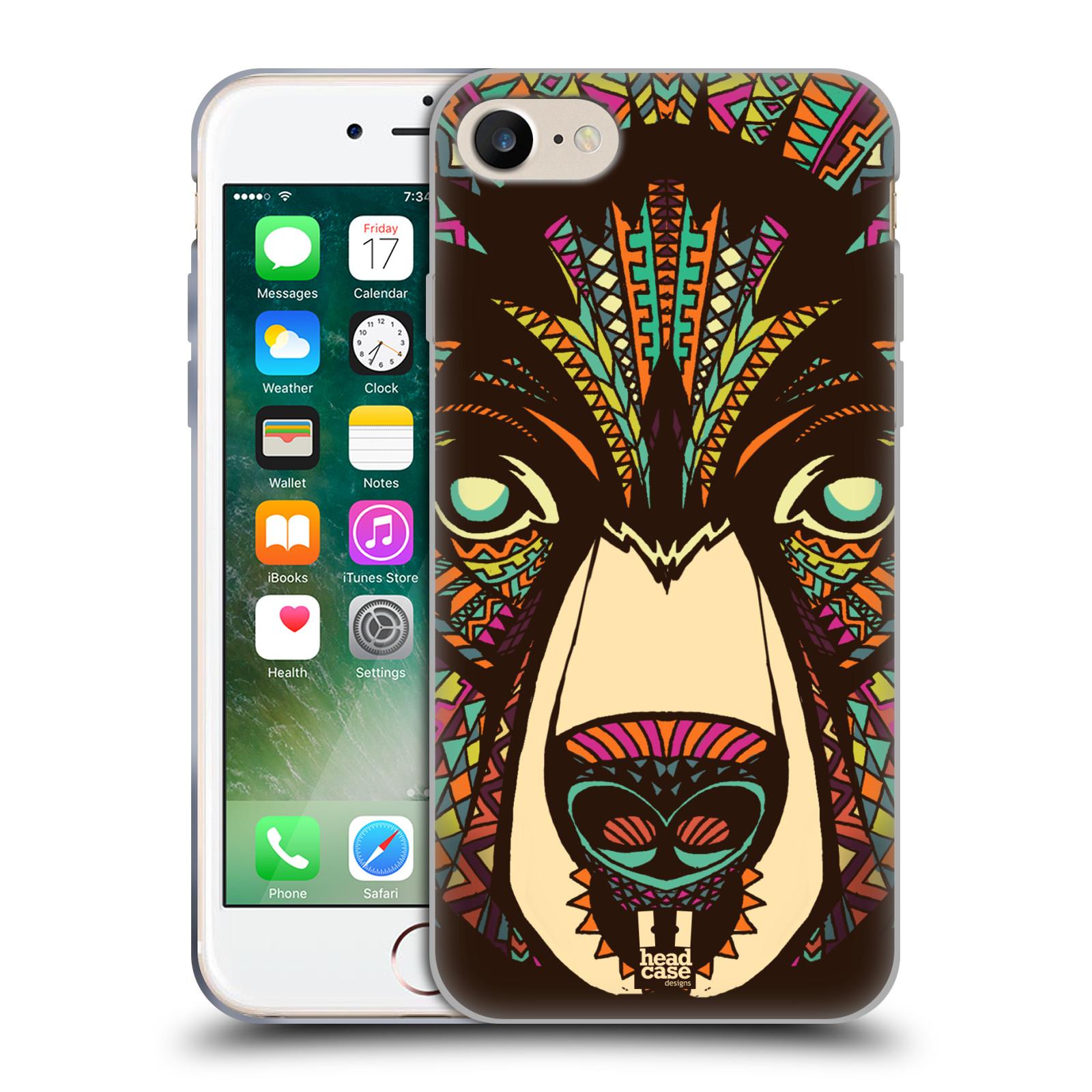 Silikonové pouzdro na mobil Apple iPhone 8 - Head Case - AZTEC MEDVĚD