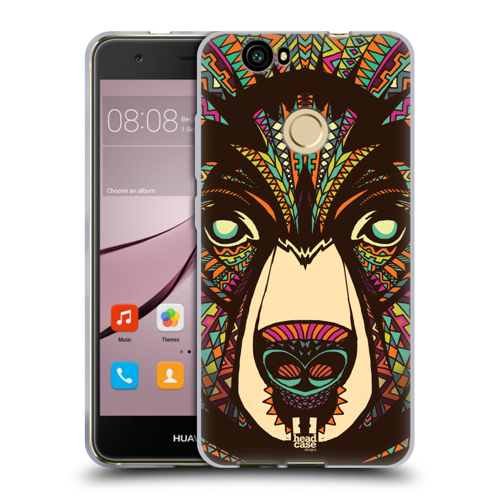Silikonové pouzdro na mobil Huawei Nova - Head Case - AZTEC MEDVĚD