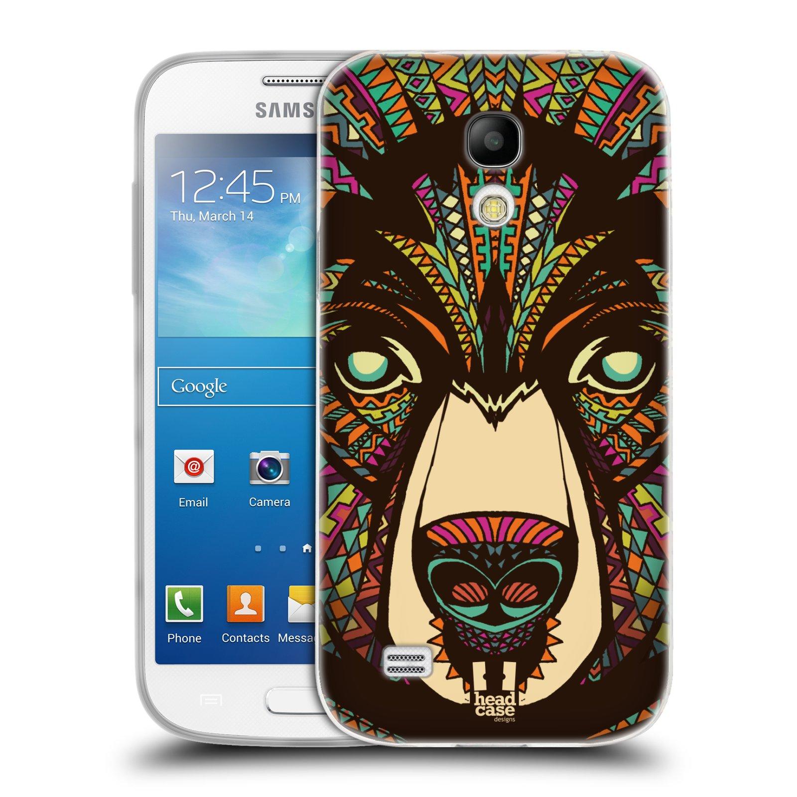 Silikonové pouzdro na mobil Samsung Galaxy S4 Mini HEAD CASE AZTEC MEDVĚD