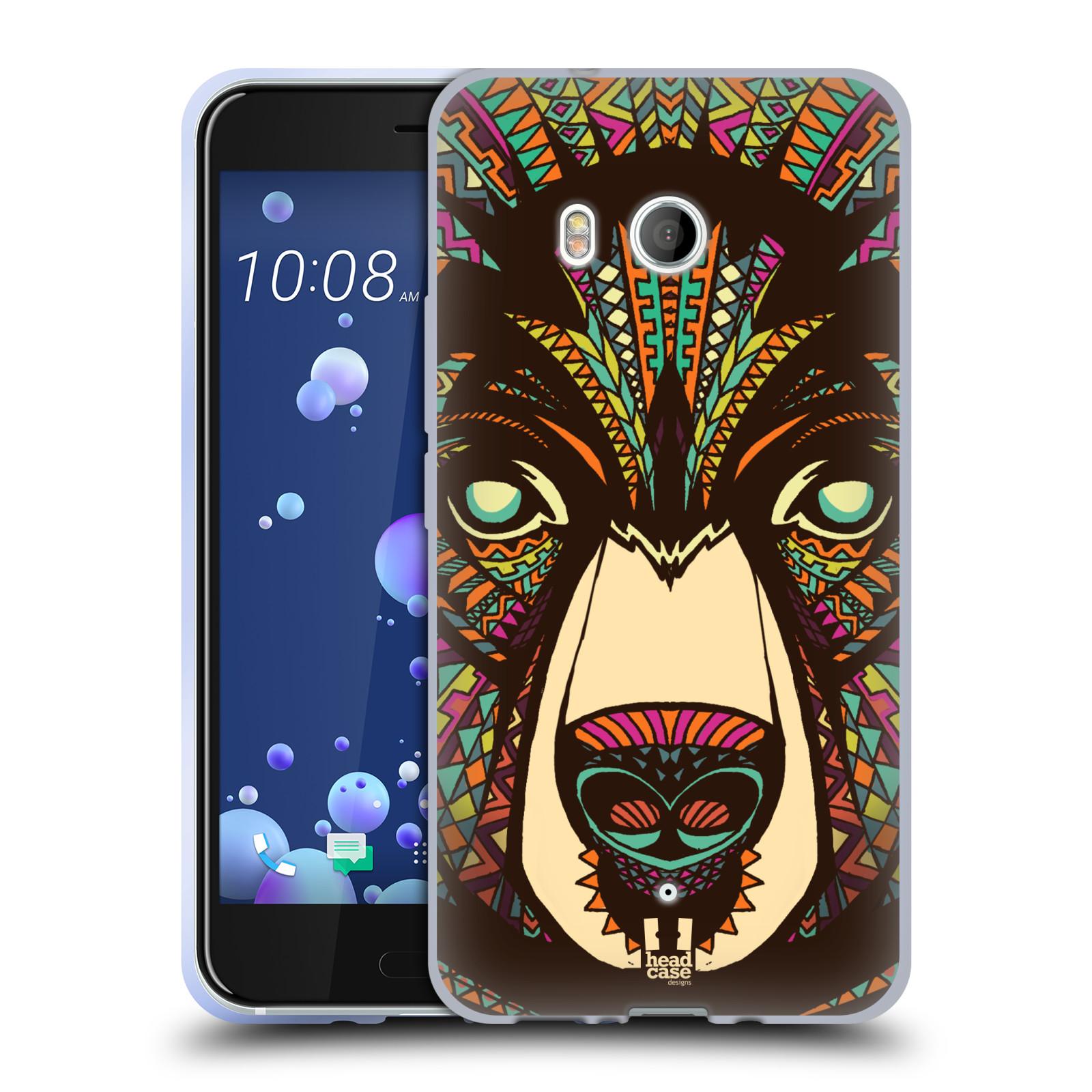 Silikonové pouzdro na mobil HTC U11 - Head Case - AZTEC MEDVĚD