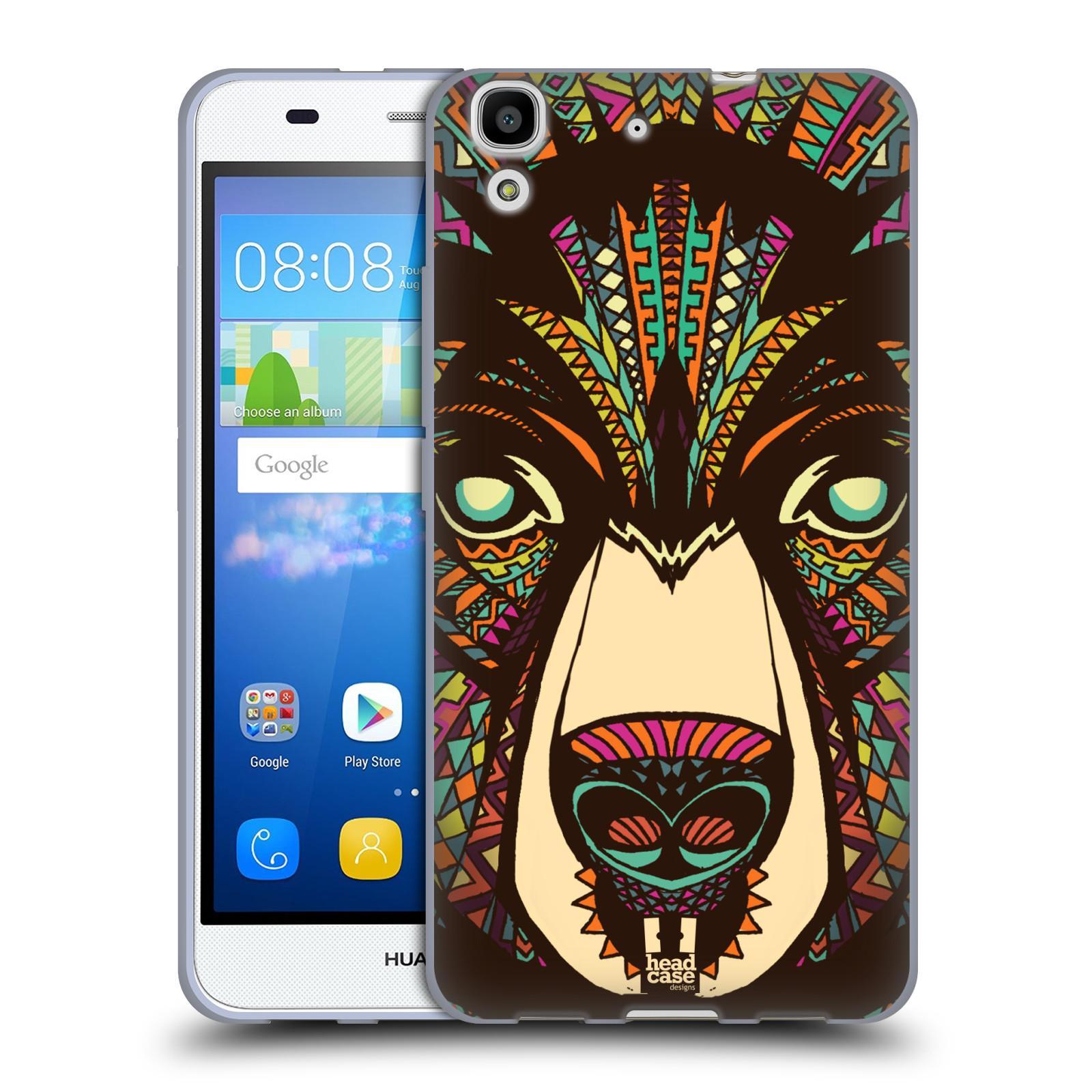 Silikonové pouzdro na mobil Huawei Y6 HEAD CASE AZTEC MEDVĚD