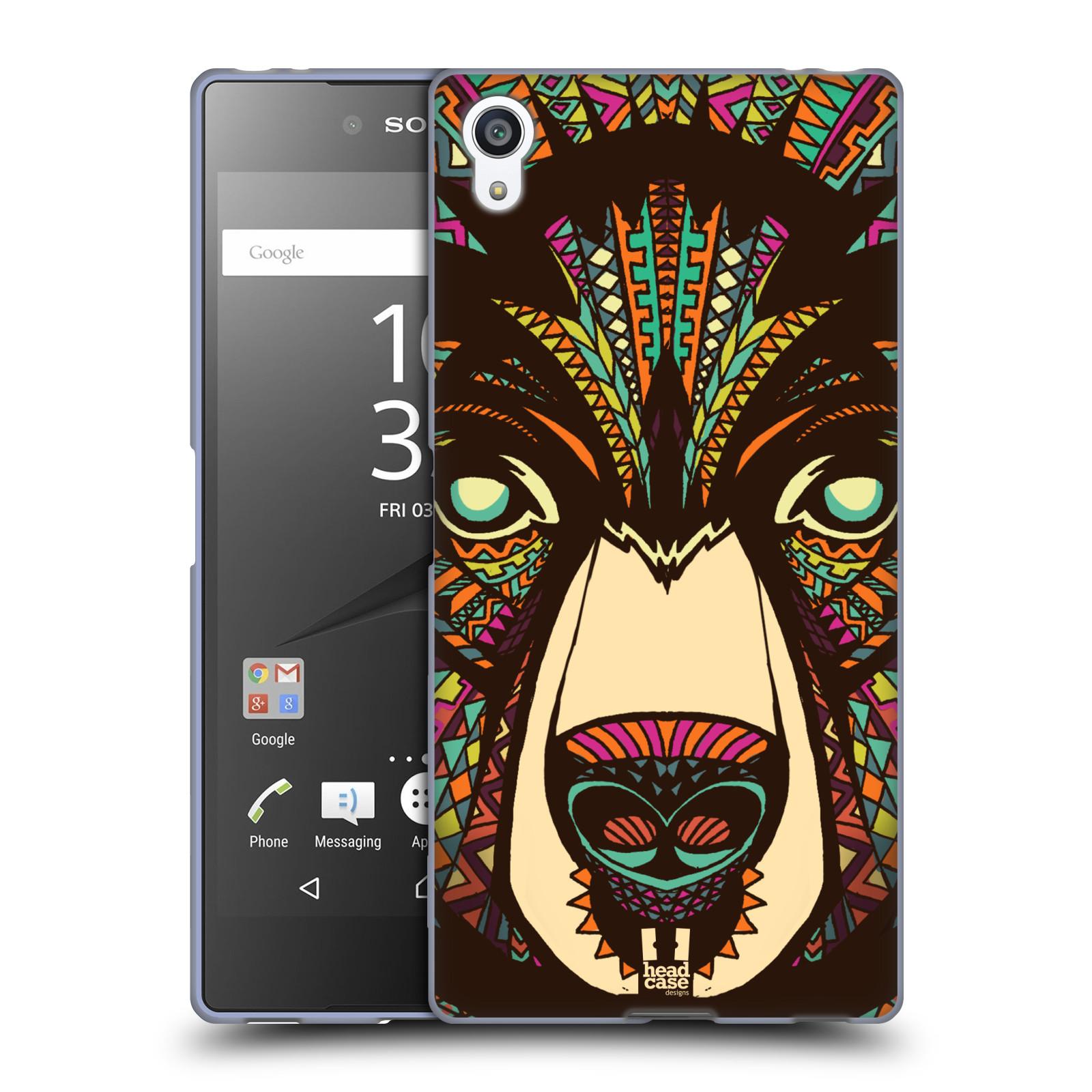 Silikonové pouzdro na mobil Sony Xperia Z5 Premium HEAD CASE AZTEC MEDVĚD