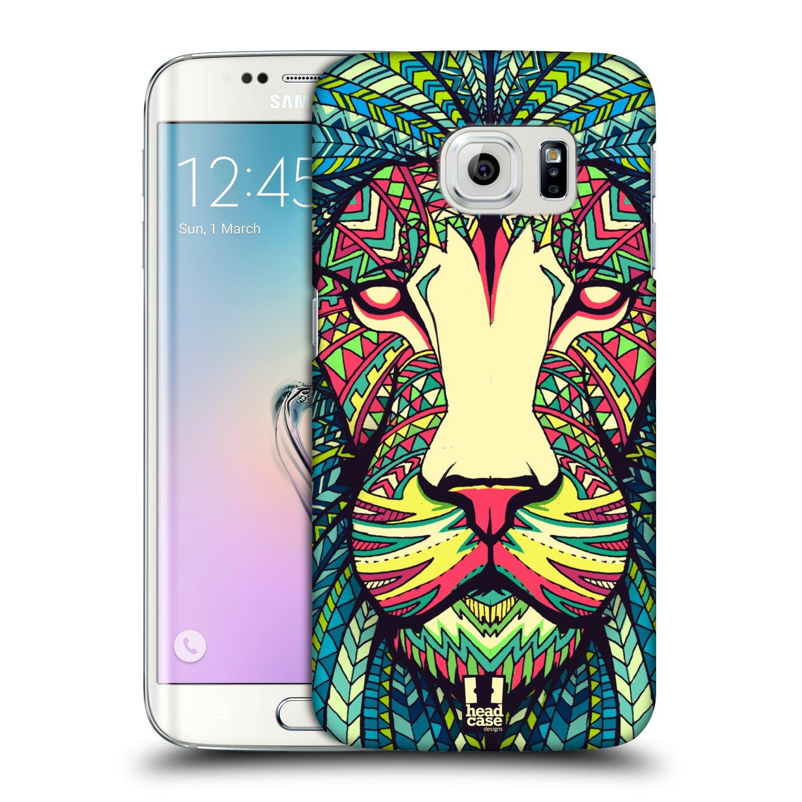 Plastové pouzdro na mobil Samsung Galaxy S6 Edge HEAD CASE AZTEC LEV (Kryt či obal na mobilní telefon Samsung Galaxy S6 Edge SM-G925F)