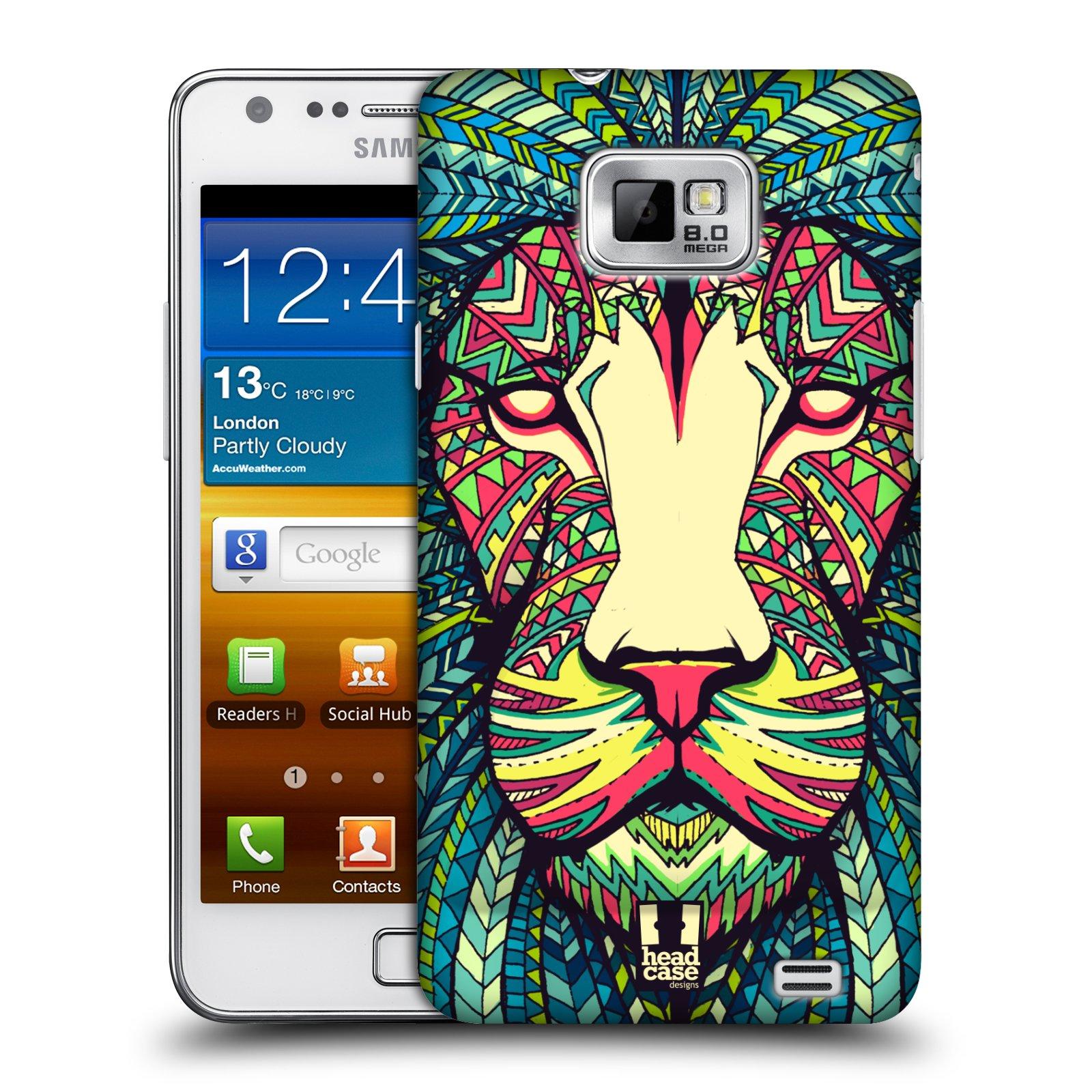 Plastové pouzdro na mobil Samsung Galaxy S II HEAD CASE AZTEC LEV (Kryt či obal na mobilní telefon Samsung Galaxy S II GT-i9100)