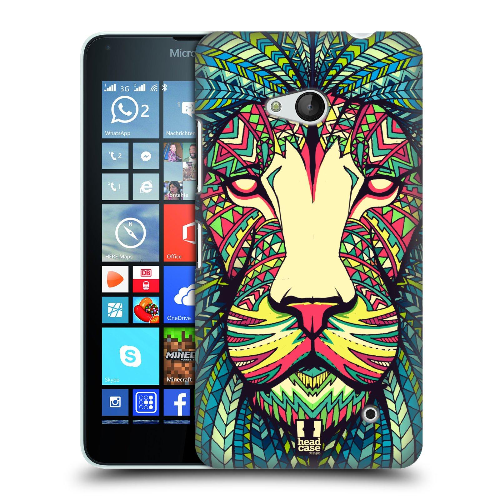 Plastové pouzdro na mobil Microsoft Lumia 640 HEAD CASE AZTEC LEV