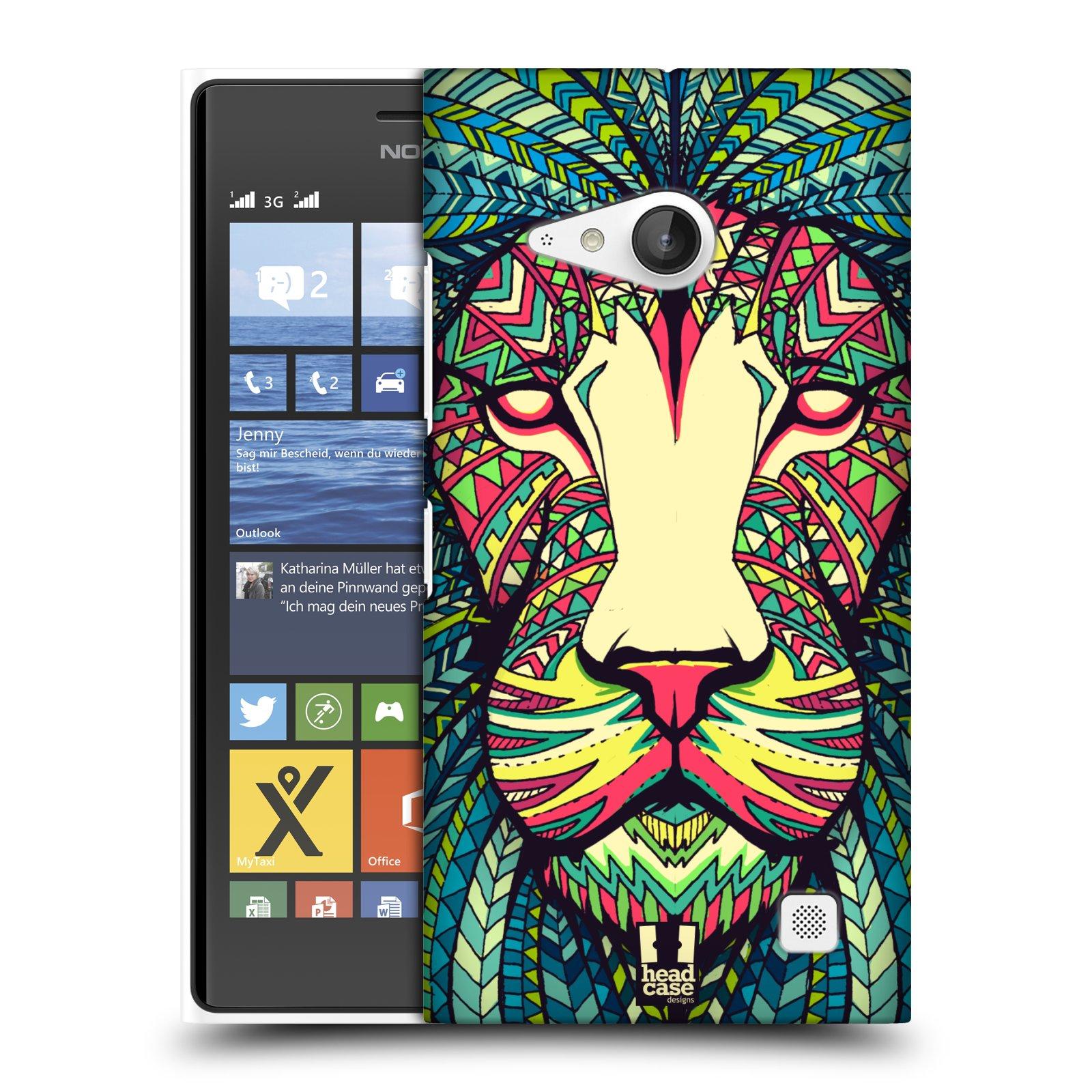 Plastové pouzdro na mobil Nokia Lumia 735 HEAD CASE AZTEC LEV