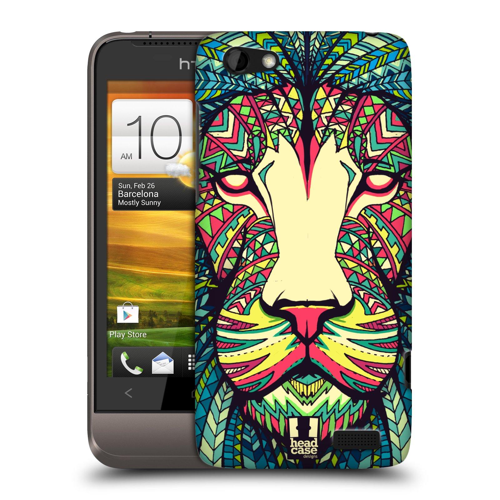 Plastové pouzdro na mobil HTC ONE V HEAD CASE AZTEC LEV (Kryt či obal na mobilní telefon HTC ONE V)