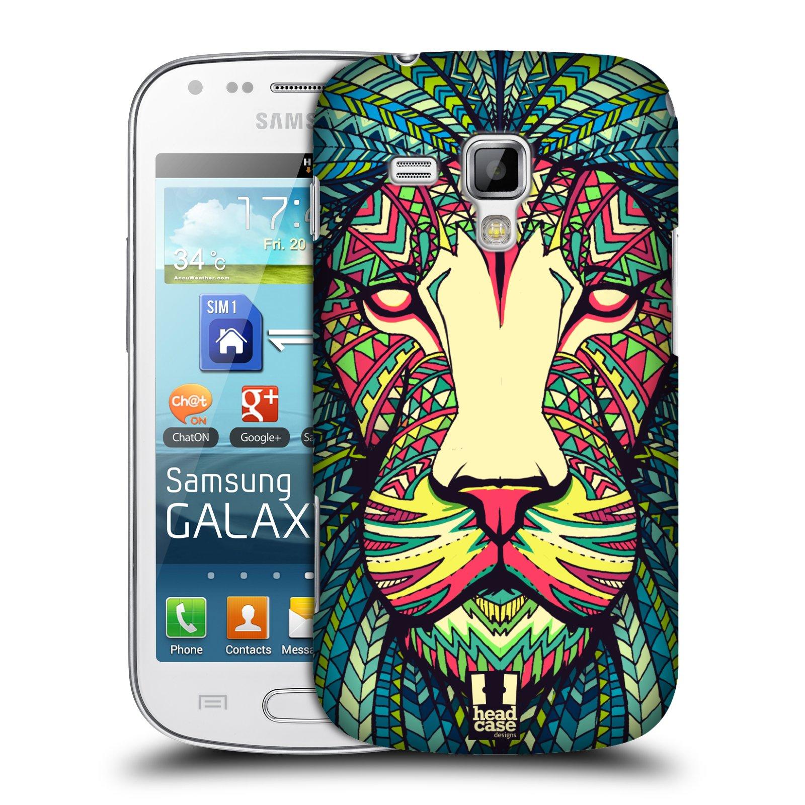 Plastové pouzdro na mobil Samsung Galaxy S Duos HEAD CASE AZTEC LEV (Kryt či obal na mobilní telefon Samsung Galaxy S Duos GT-S7562)