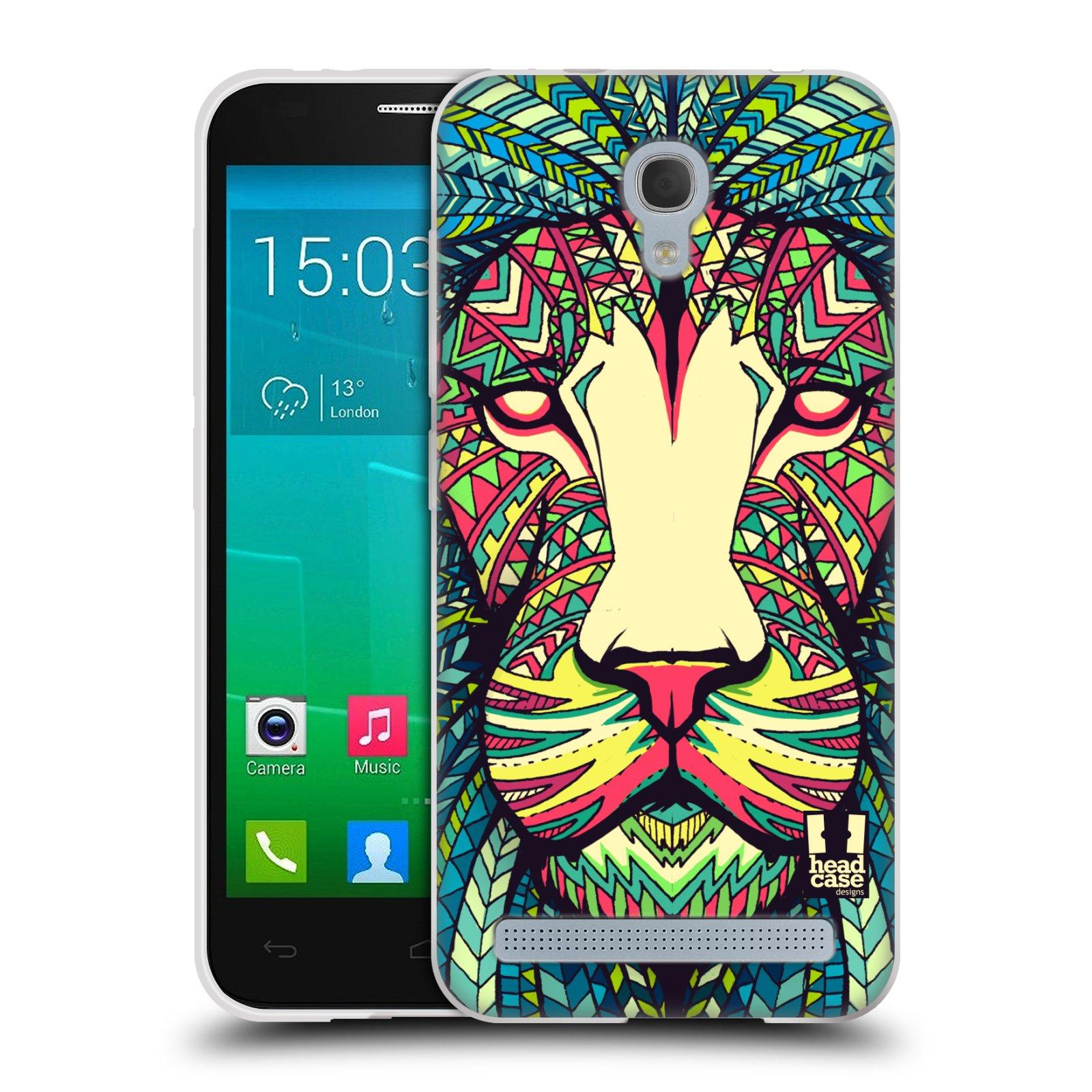 Silikonové pouzdro na mobil Alcatel One Touch Idol 2 Mini S 6036Y HEAD CASE AZTEC LEV (Silikonový kryt či obal na mobilní telefon Alcatel Idol 2 Mini S OT-6036Y)