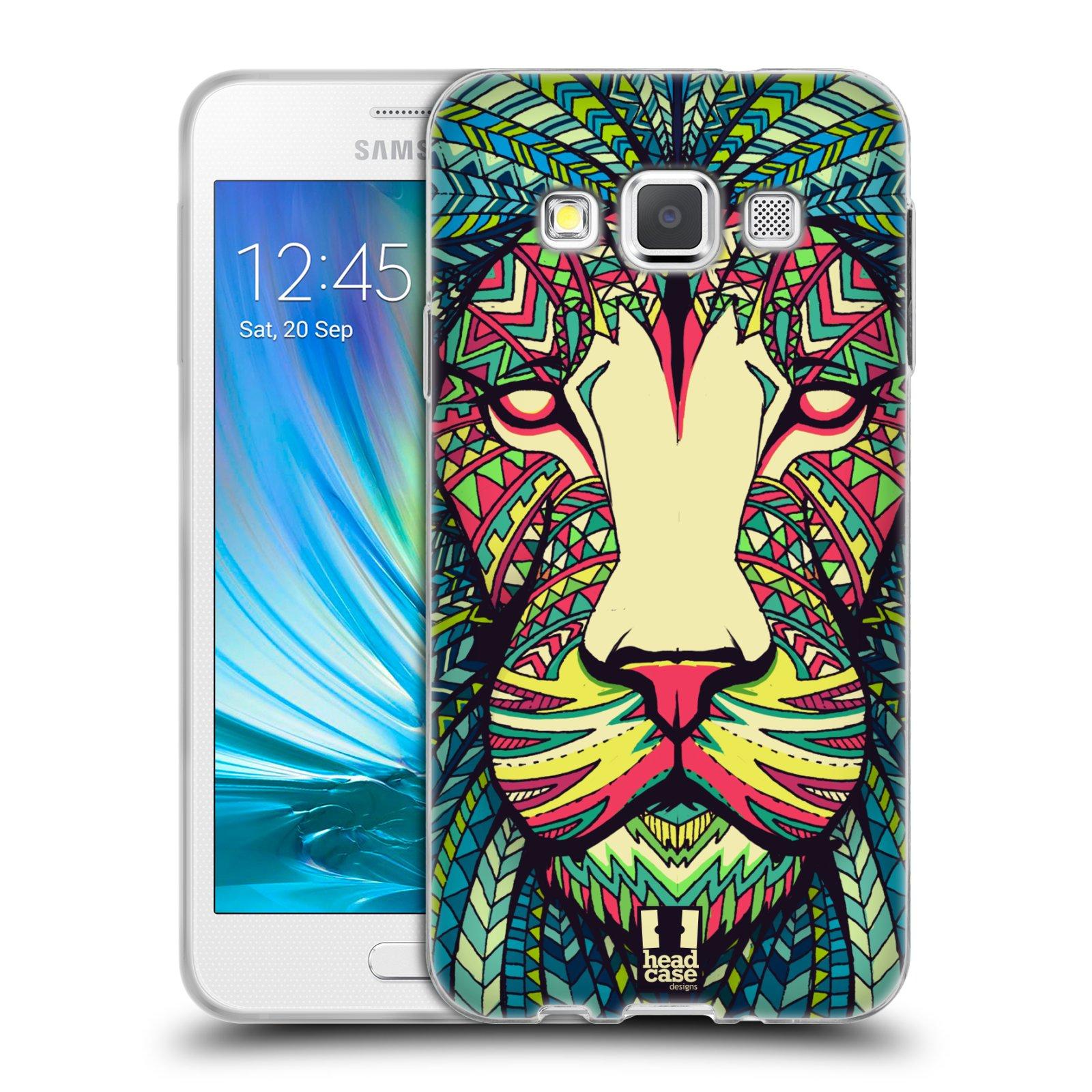 Silikonové pouzdro na mobil Samsung Galaxy A3 HEAD CASE AZTEC LEV