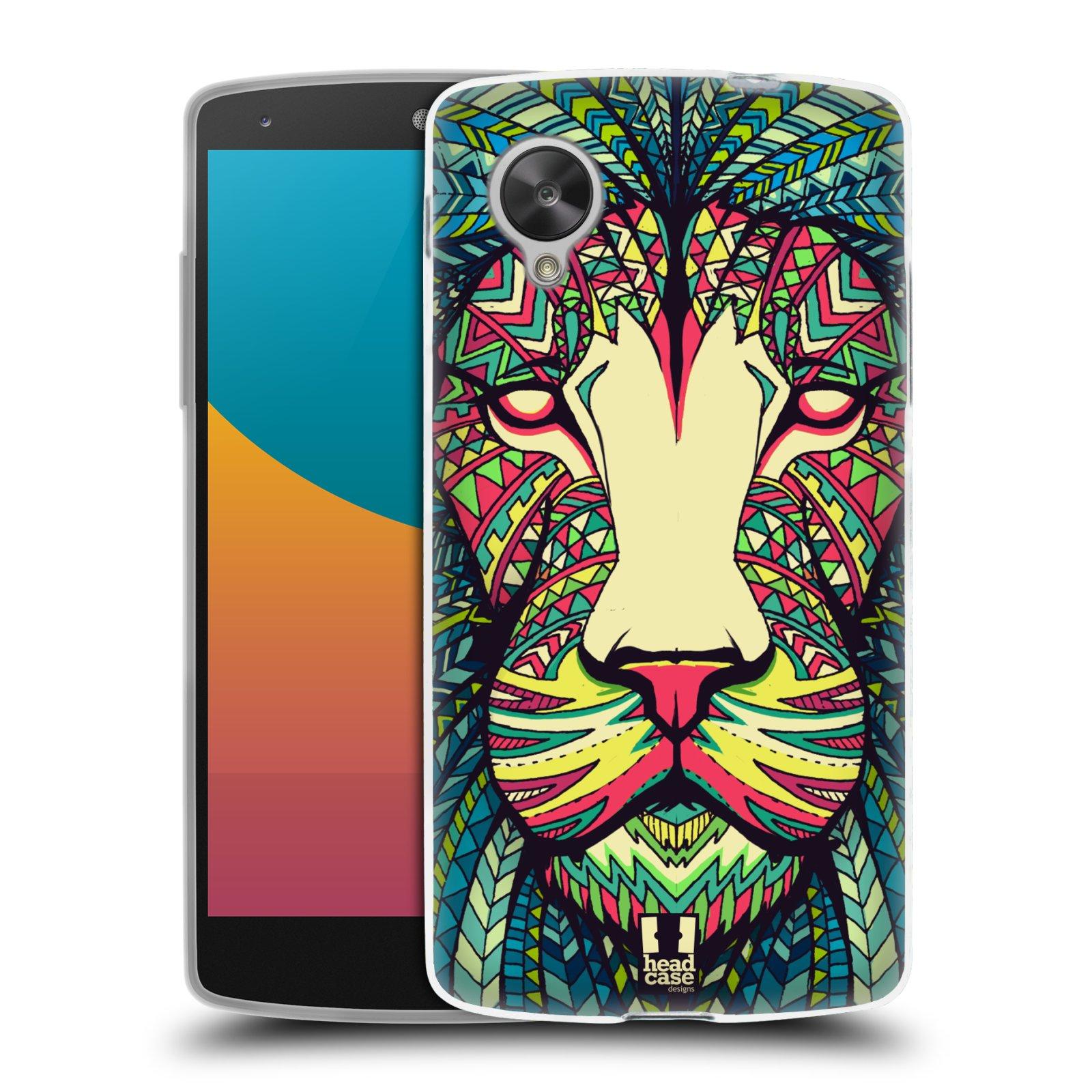 Silikonové pouzdro na mobil LG Nexus 5 HEAD CASE AZTEC LEV (Silikonový kryt či obal na mobilní telefon LG Google Nexus 5 D821)