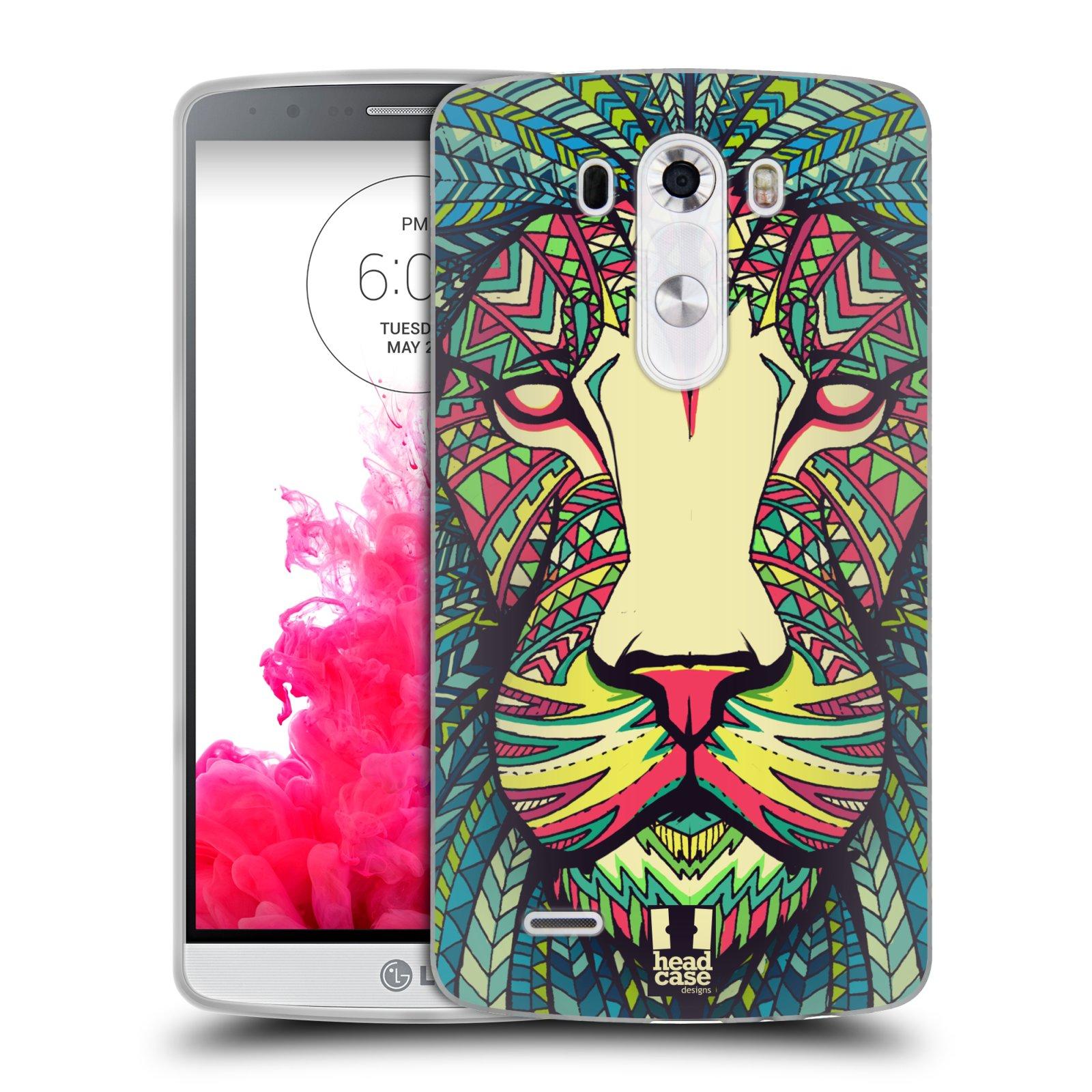 Silikonové pouzdro na mobil LG G3 HEAD CASE AZTEC LEV (Silikonový kryt či obal na mobilní telefon LG G3 D855)
