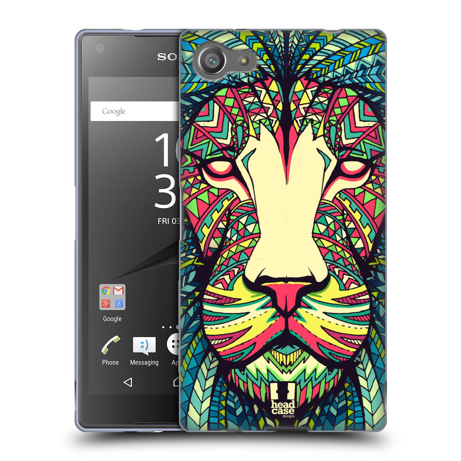 Silikonové pouzdro na mobil Sony Xperia Z5 Compact HEAD CASE AZTEC LEV