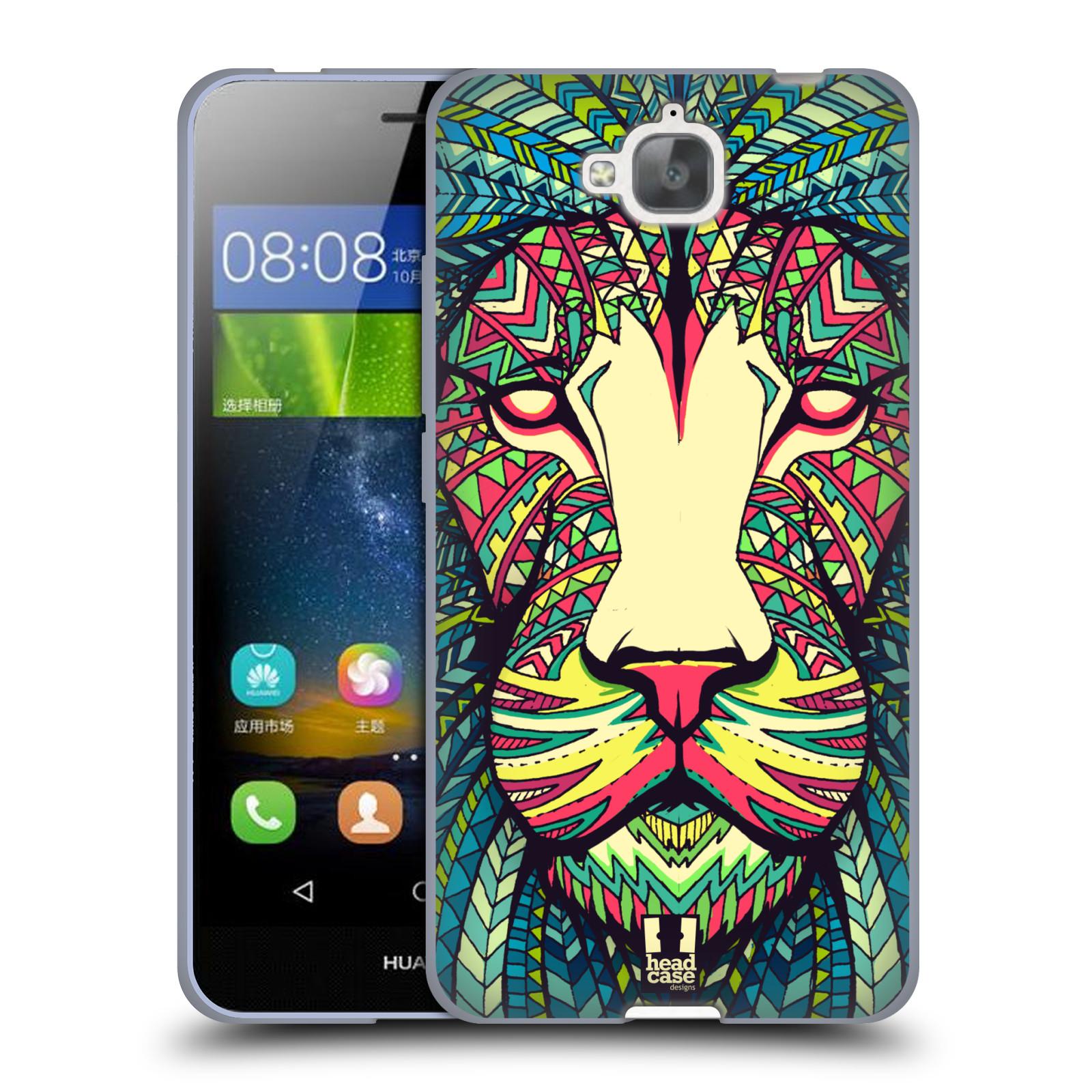 Silikonové pouzdro na mobil Huawei Y6 Pro Dual Sim HEAD CASE AZTEC LEV