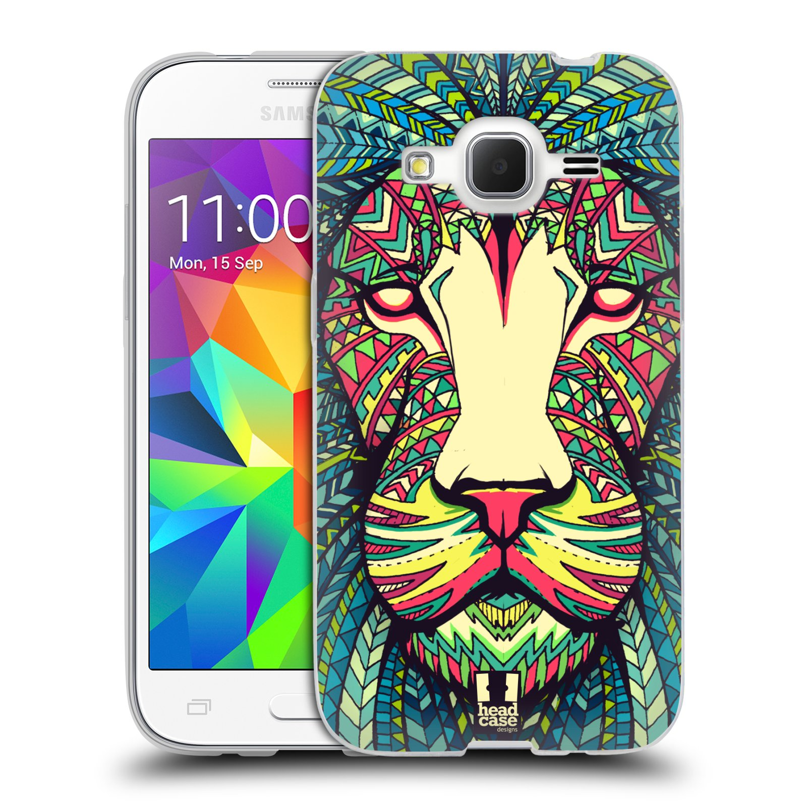 Silikonové pouzdro na mobil Samsung Galaxy Core Prime LTE HEAD CASE AZTEC LEV