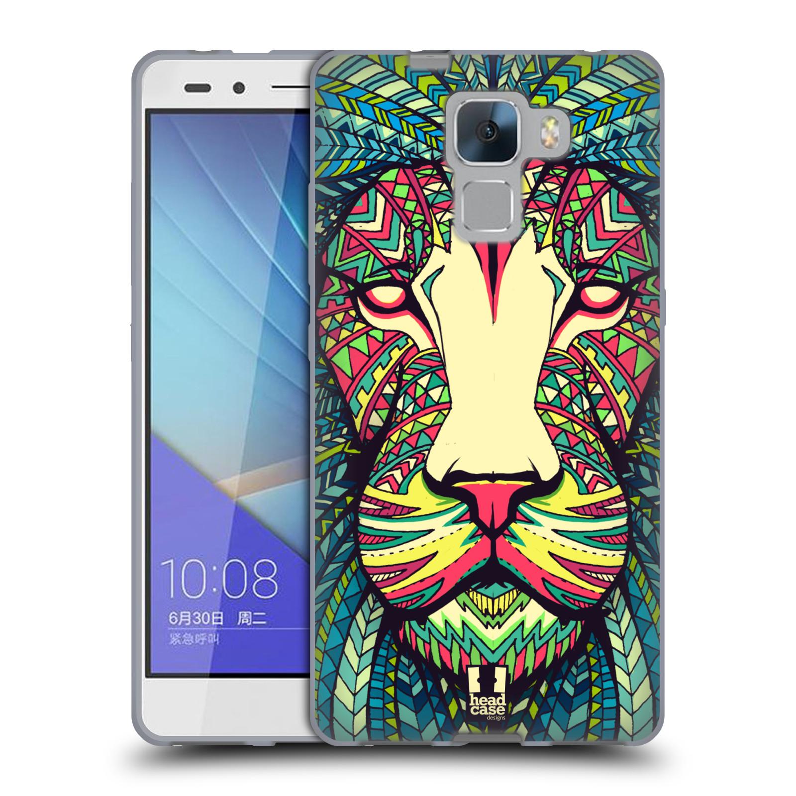 Silikonové pouzdro na mobil Honor 7 HEAD CASE AZTEC LEV