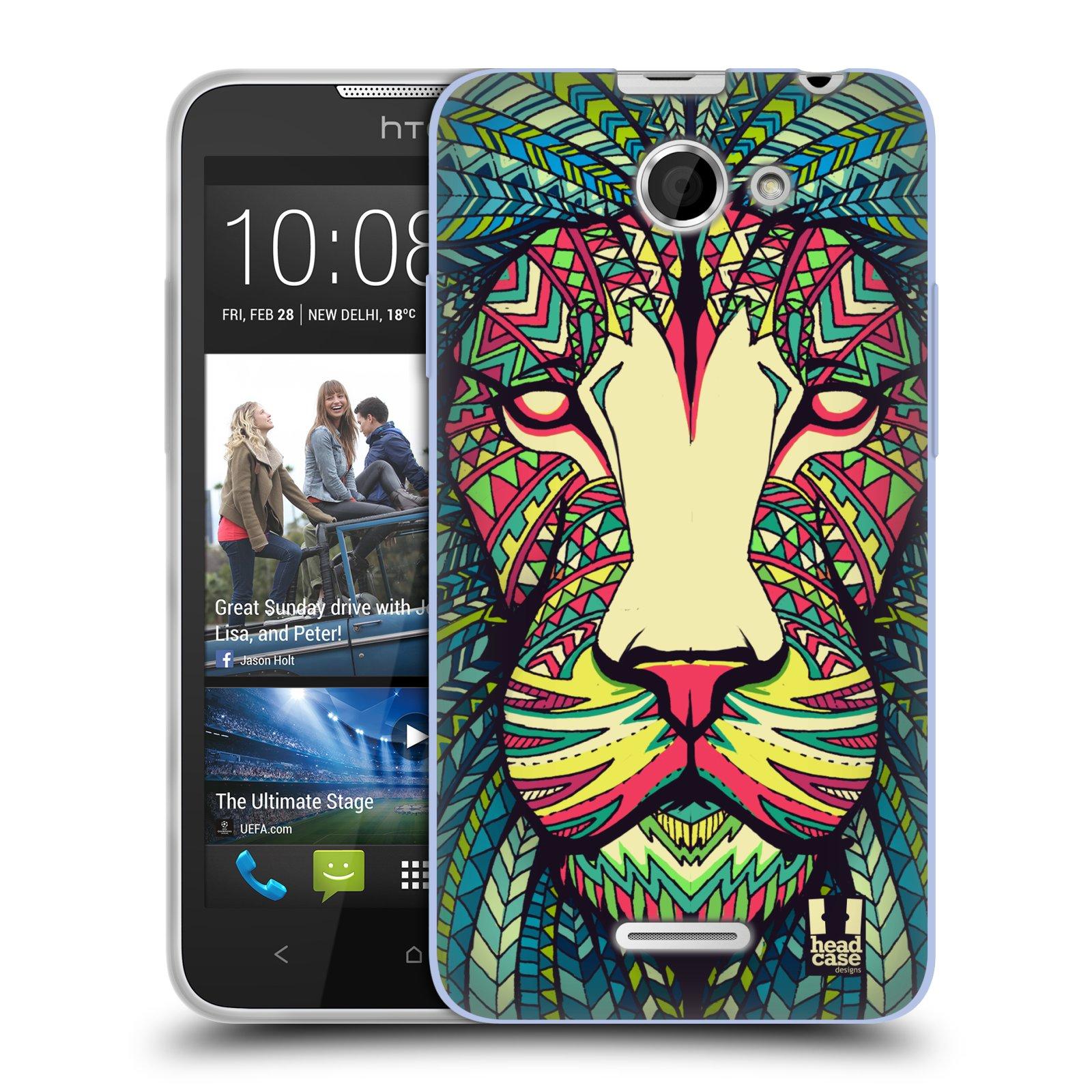 Silikonové pouzdro na mobil HTC Desire 516 HEAD CASE AZTEC LEV (Silikonový kryt či obal na mobilní telefon HTC Desire 516 Dual SIM)
