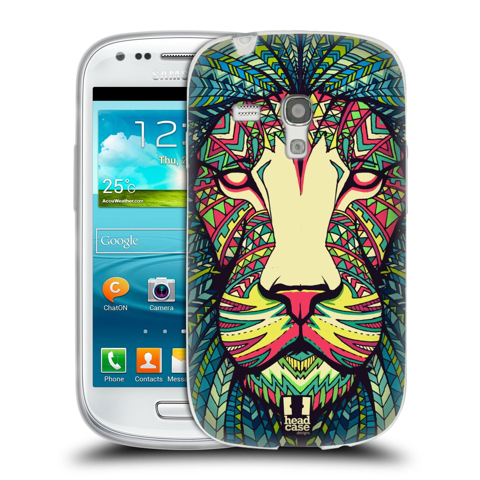 Silikonové pouzdro na mobil Samsung Galaxy S III Mini HEAD CASE AZTEC LEV (Silikonový kryt či obal na mobilní telefon Samsung Galaxy S III Mini GT-i8190)