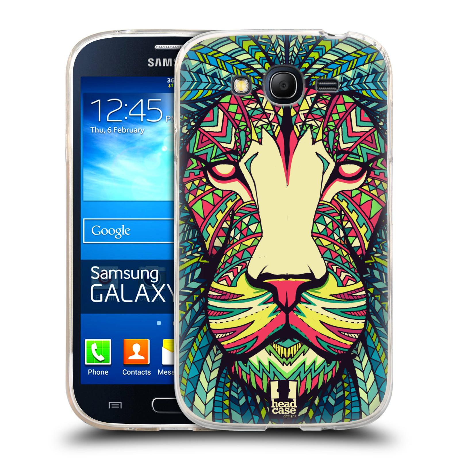 Silikonové pouzdro na mobil Samsung Galaxy Grand Neo HEAD CASE AZTEC LEV (Silikonový kryt či obal na mobilní telefon Samsung Galaxy Grand Neo GT-I9060)