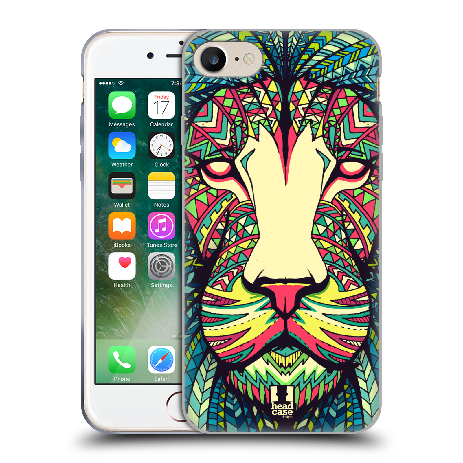 Silikonové pouzdro na mobil Apple iPhone 8 - Head Case - AZTEC LEV