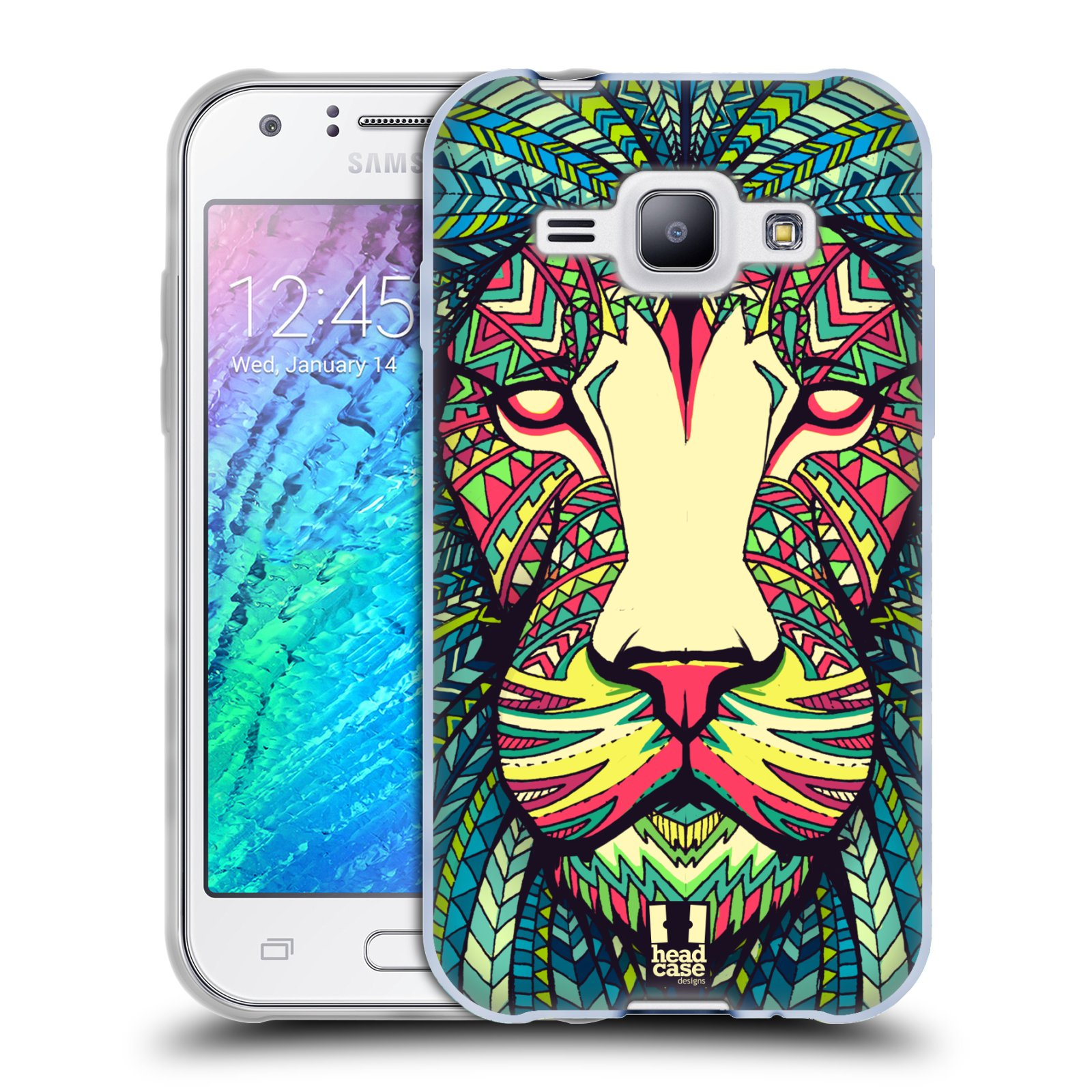 Silikonové pouzdro na mobil Samsung Galaxy J1 HEAD CASE AZTEC LEV (Silikonový kryt či obal na mobilní telefon Samsung Galaxy J1 a J1 Duos)