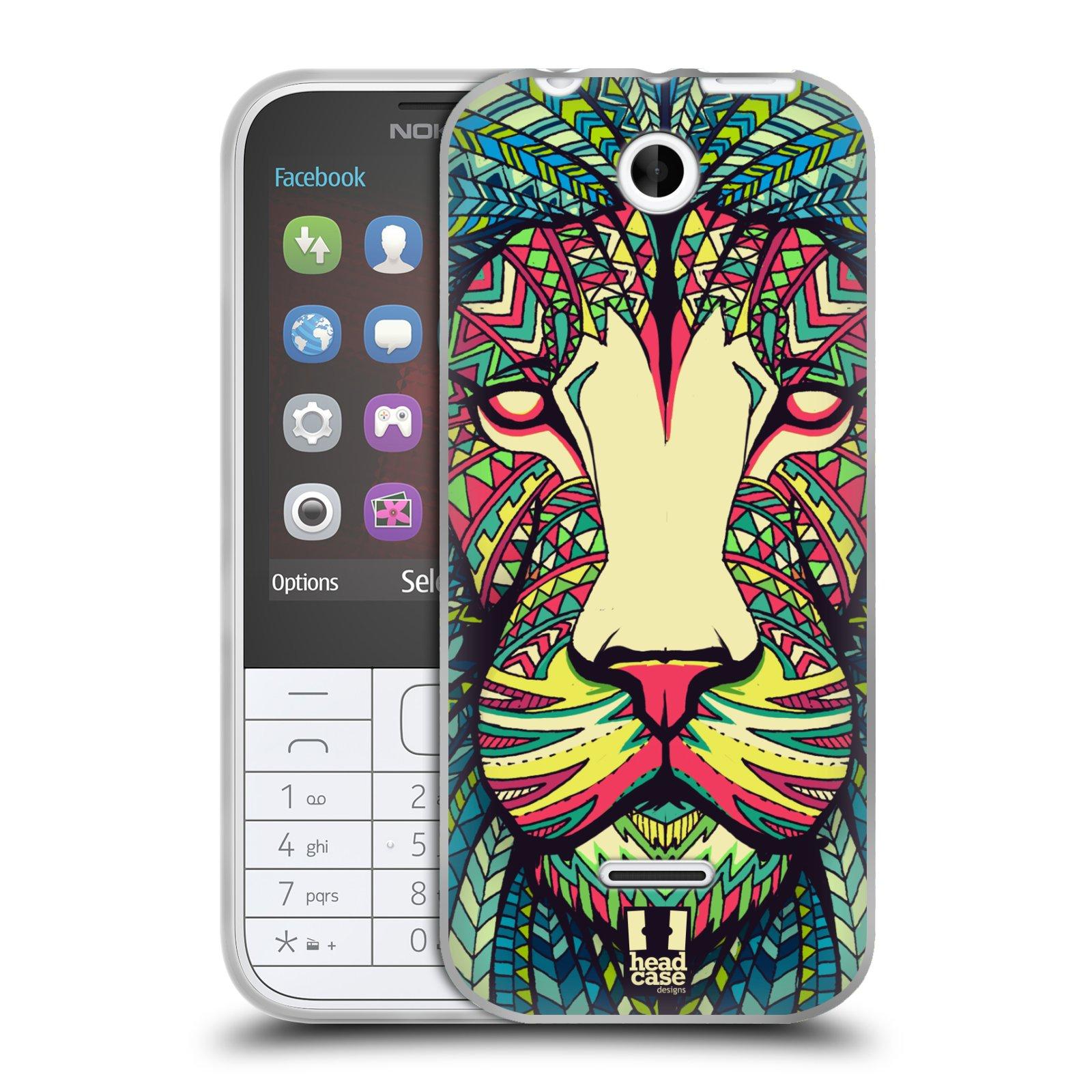 Silikonové pouzdro na mobil Nokia 225 HEAD CASE AZTEC LEV (Silikonový kryt či obal na mobilní telefon Nokia 225)