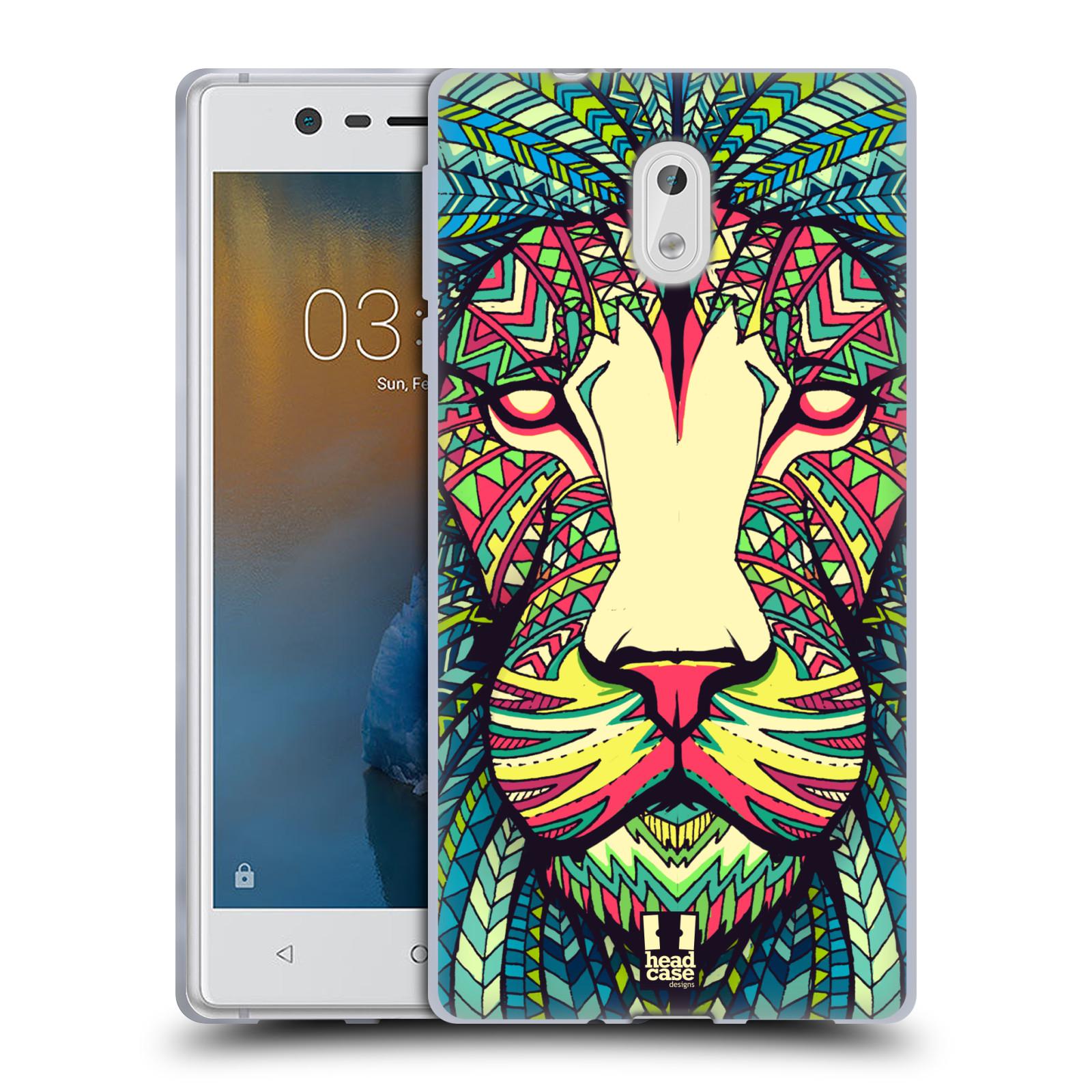 Silikonové pouzdro na mobil Nokia 3 Head Case - AZTEC LEV