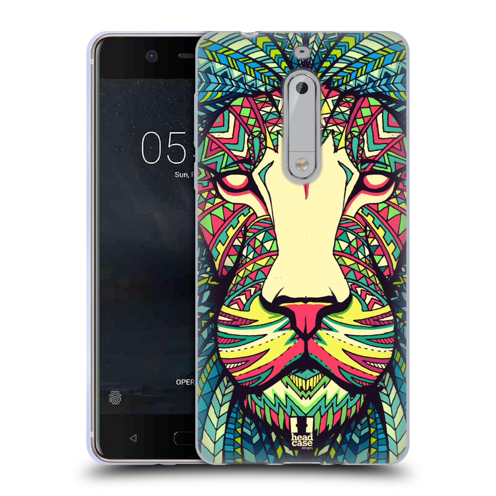 Silikonové pouzdro na mobil Nokia 5 Head Case - AZTEC LEV