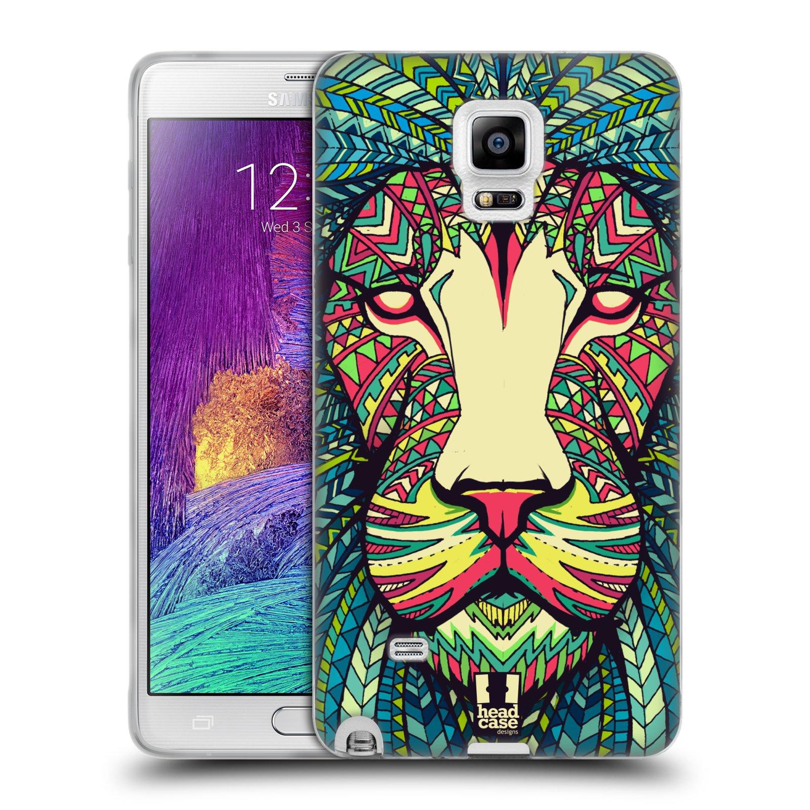 Silikonové pouzdro na mobil Samsung Galaxy Note 4 HEAD CASE AZTEC LEV (Silikonový kryt či obal na mobilní telefon Samsung Galaxy Note 4 SM-N910F)