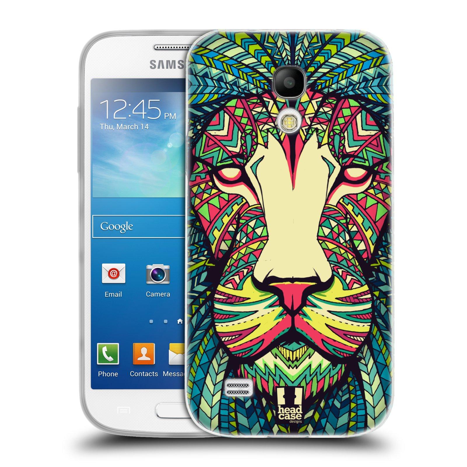 Silikonové pouzdro na mobil Samsung Galaxy S4 Mini HEAD CASE AZTEC LEV