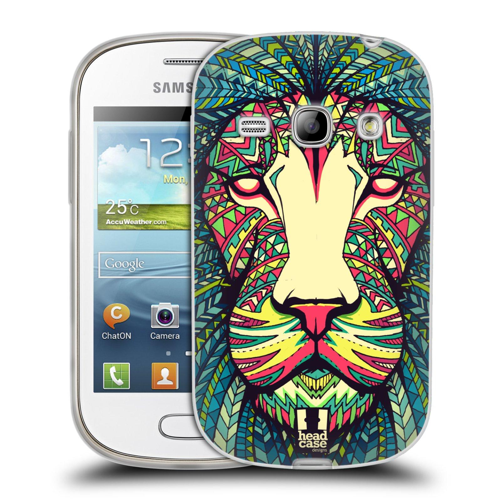Silikonové pouzdro na mobil Samsung Galaxy Fame HEAD CASE AZTEC LEV (Silikonový kryt či obal na mobilní telefon Samsung Galaxy Fame GT-S6810)