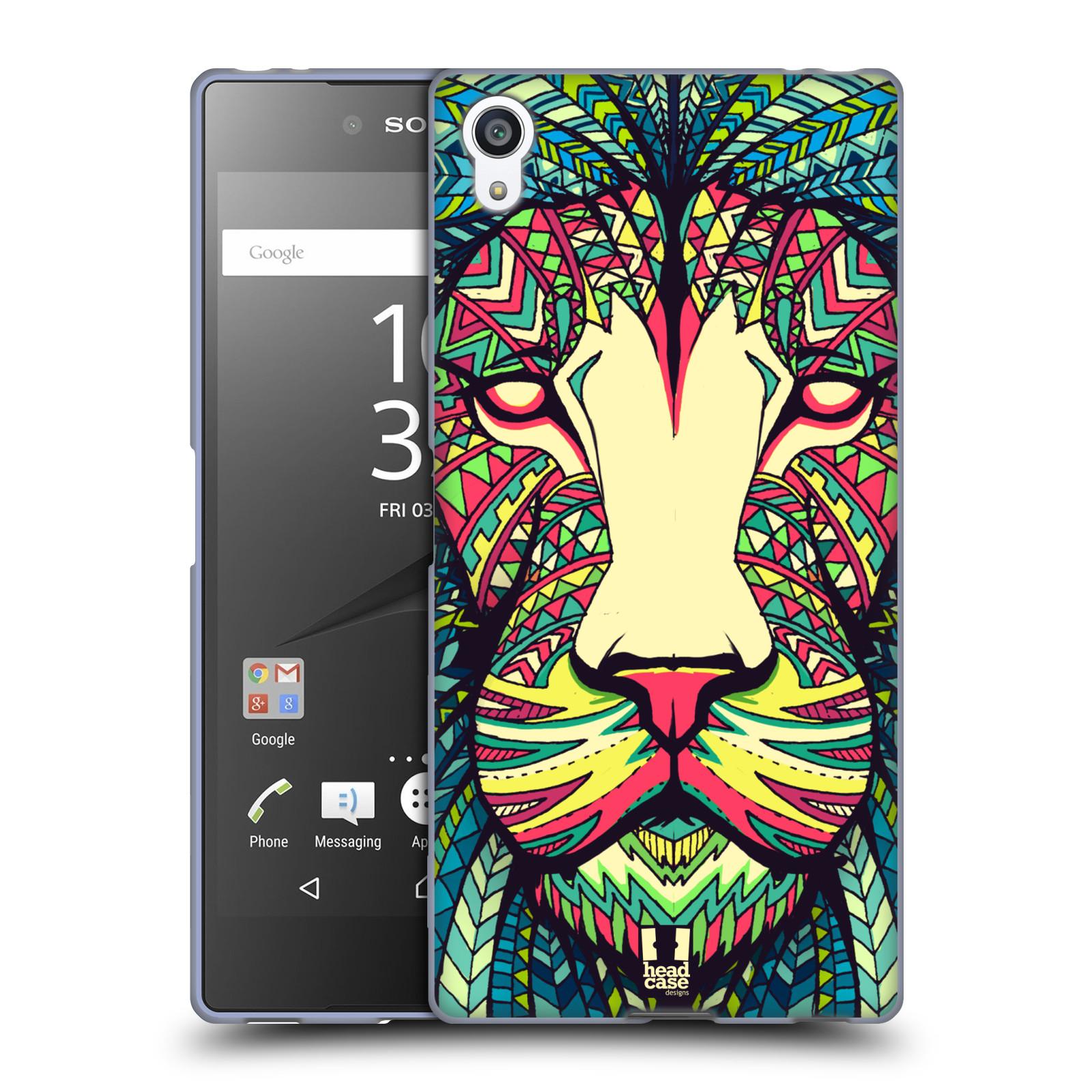 Silikonové pouzdro na mobil Sony Xperia Z5 Premium HEAD CASE AZTEC LEV
