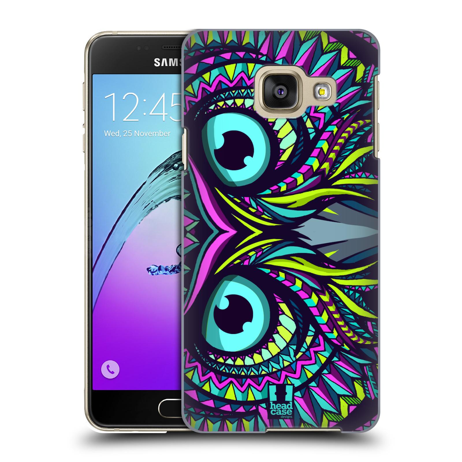 Plastové pouzdro na mobil Samsung Galaxy A3 (2016) HEAD CASE AZTEC SOVA