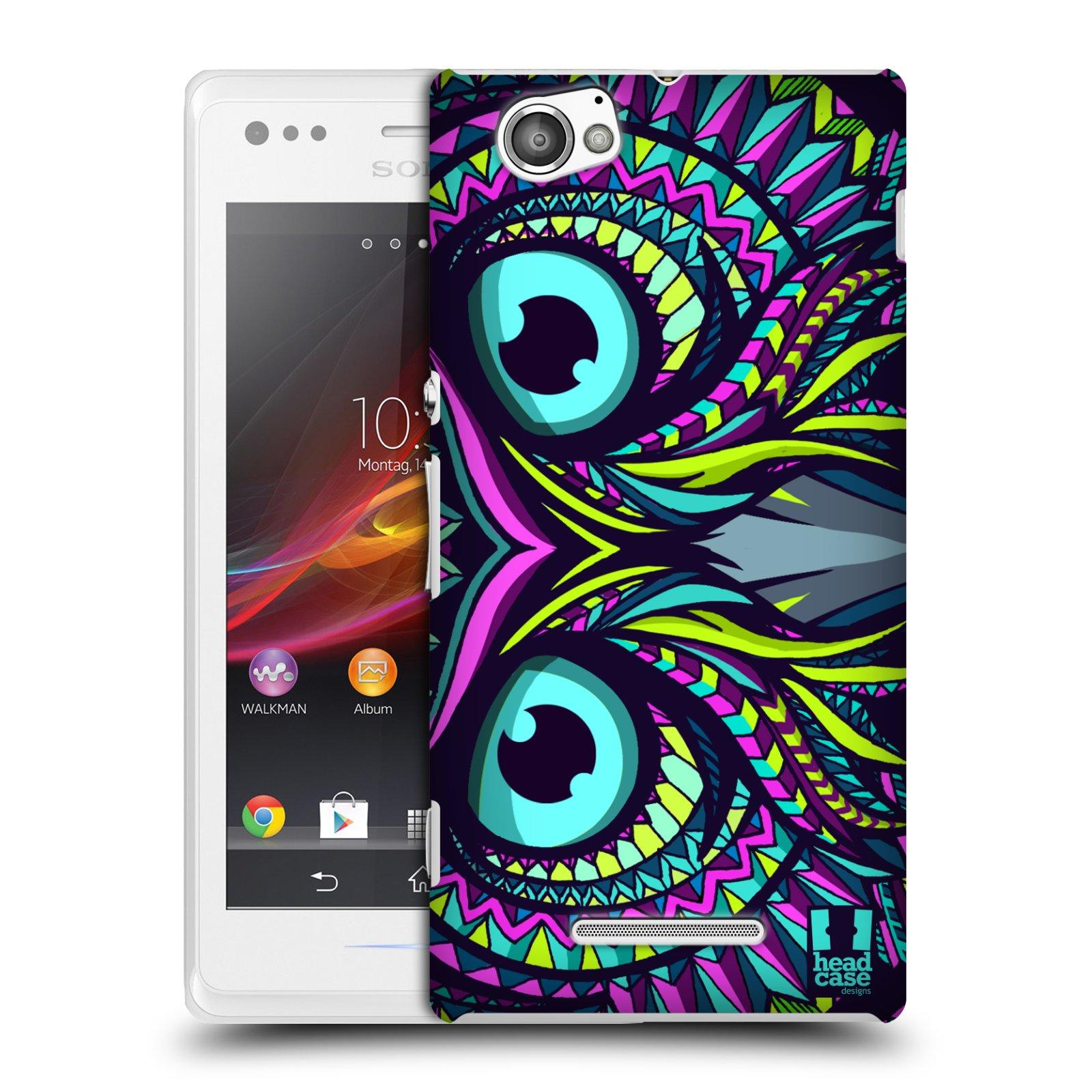 Plastové pouzdro na mobil Sony Xperia M C1905 HEAD CASE AZTEC SOVA
