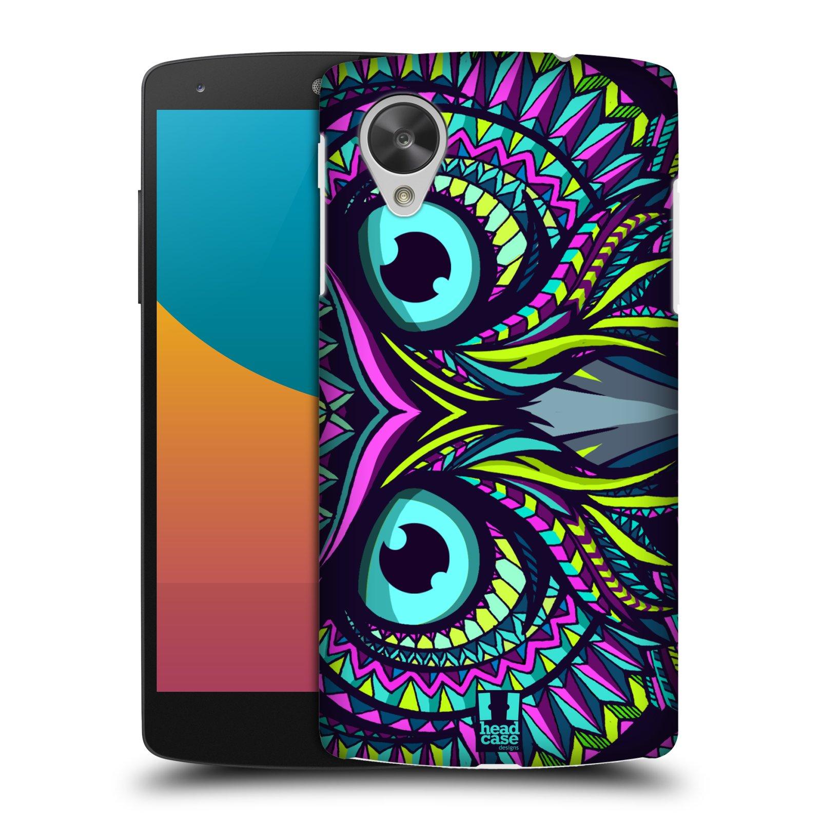 Plastové pouzdro na mobil LG Nexus 5 HEAD CASE AZTEC SOVA (Kryt či obal na mobilní telefon LG Google Nexus 5 D821)
