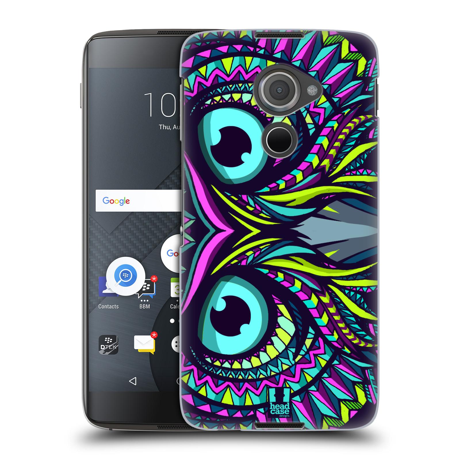 Plastové pouzdro na mobil Blackberry DTEK60 (Argon) - Head Case AZTEC SOVA