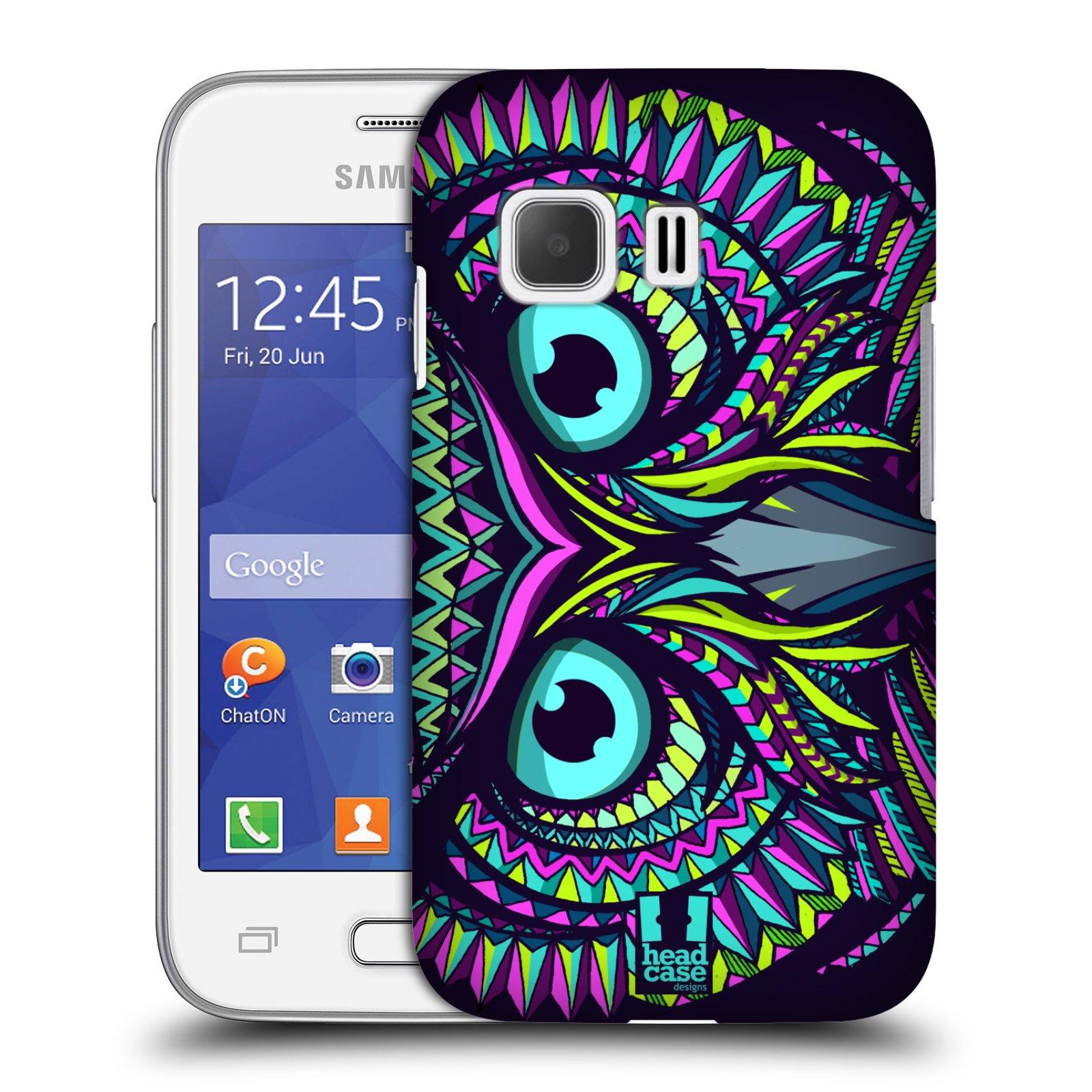 Plastové pouzdro na mobil Samsung Galaxy Young 2 HEAD CASE AZTEC SOVA (Kryt či obal na mobilní telefon Samsung Galaxy Young 2 SM-G130)