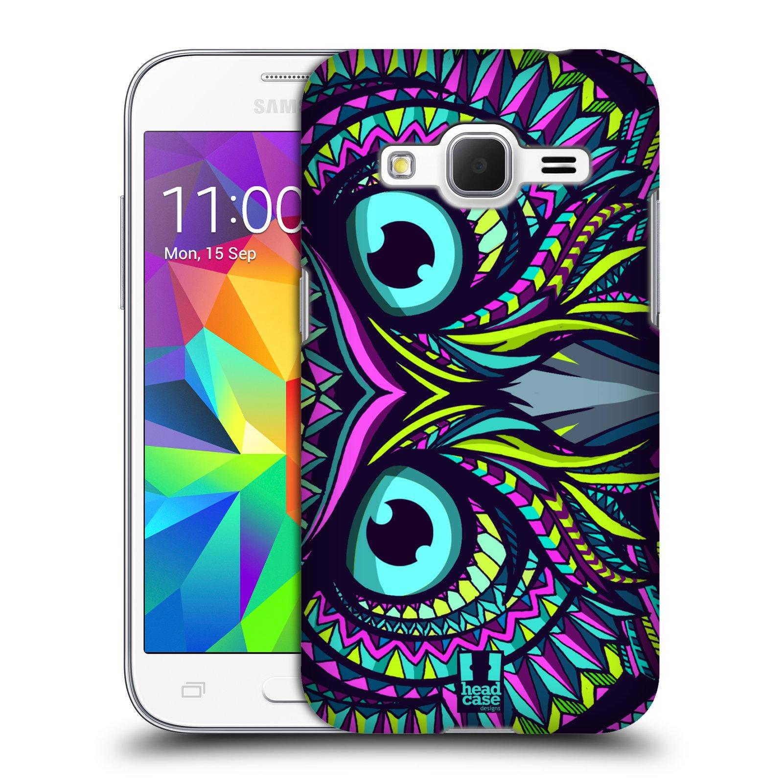 Plastové pouzdro na mobil Samsung Galaxy Core Prime LTE HEAD CASE AZTEC SOVA