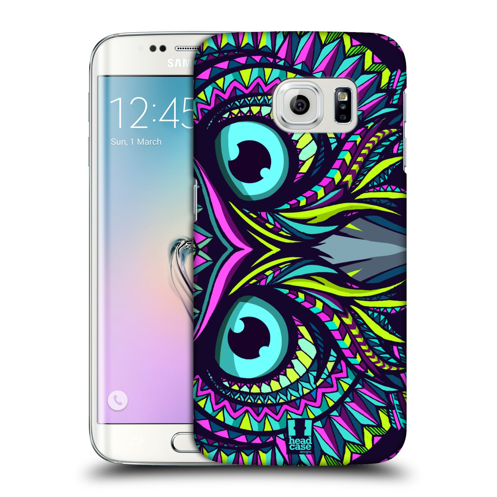 Plastové pouzdro na mobil Samsung Galaxy S6 Edge HEAD CASE AZTEC SOVA