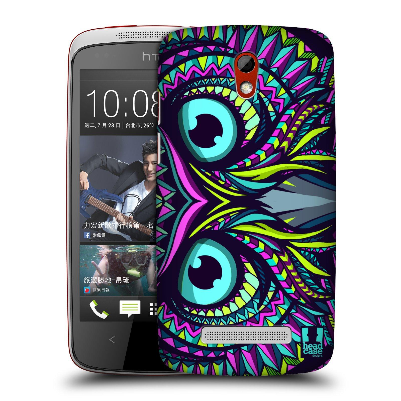 Plastové pouzdro na mobil HTC Desire 500 HEAD CASE AZTEC SOVA (Kryt či obal na mobilní telefon HTC Desire 500)
