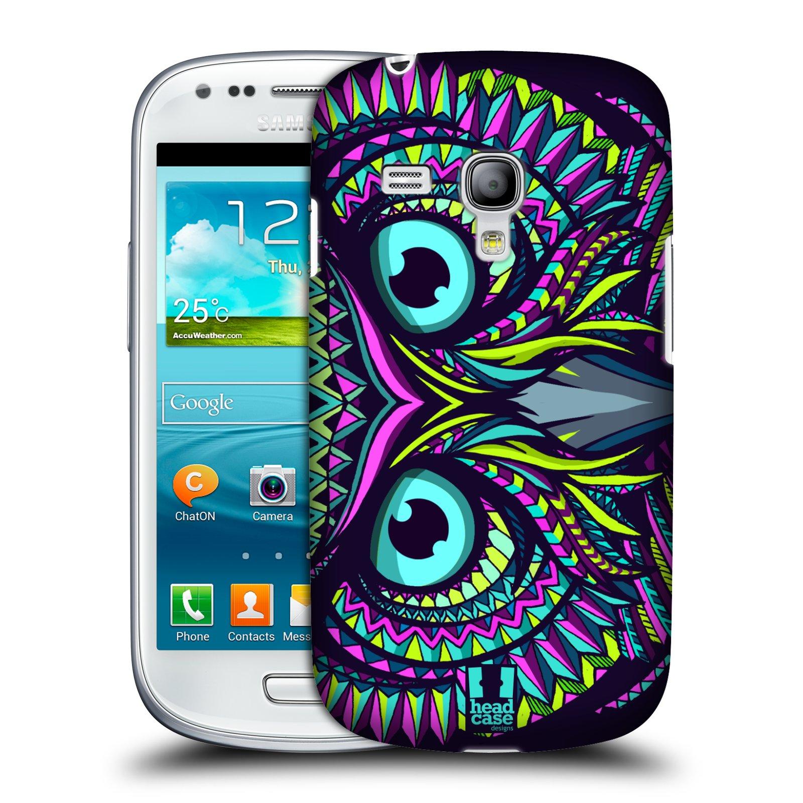 Plastové pouzdro na mobil Samsung Galaxy S III Mini HEAD CASE AZTEC SOVA (Kryt či obal na mobilní telefon Samsung Galaxy S III Mini GT-i8190)